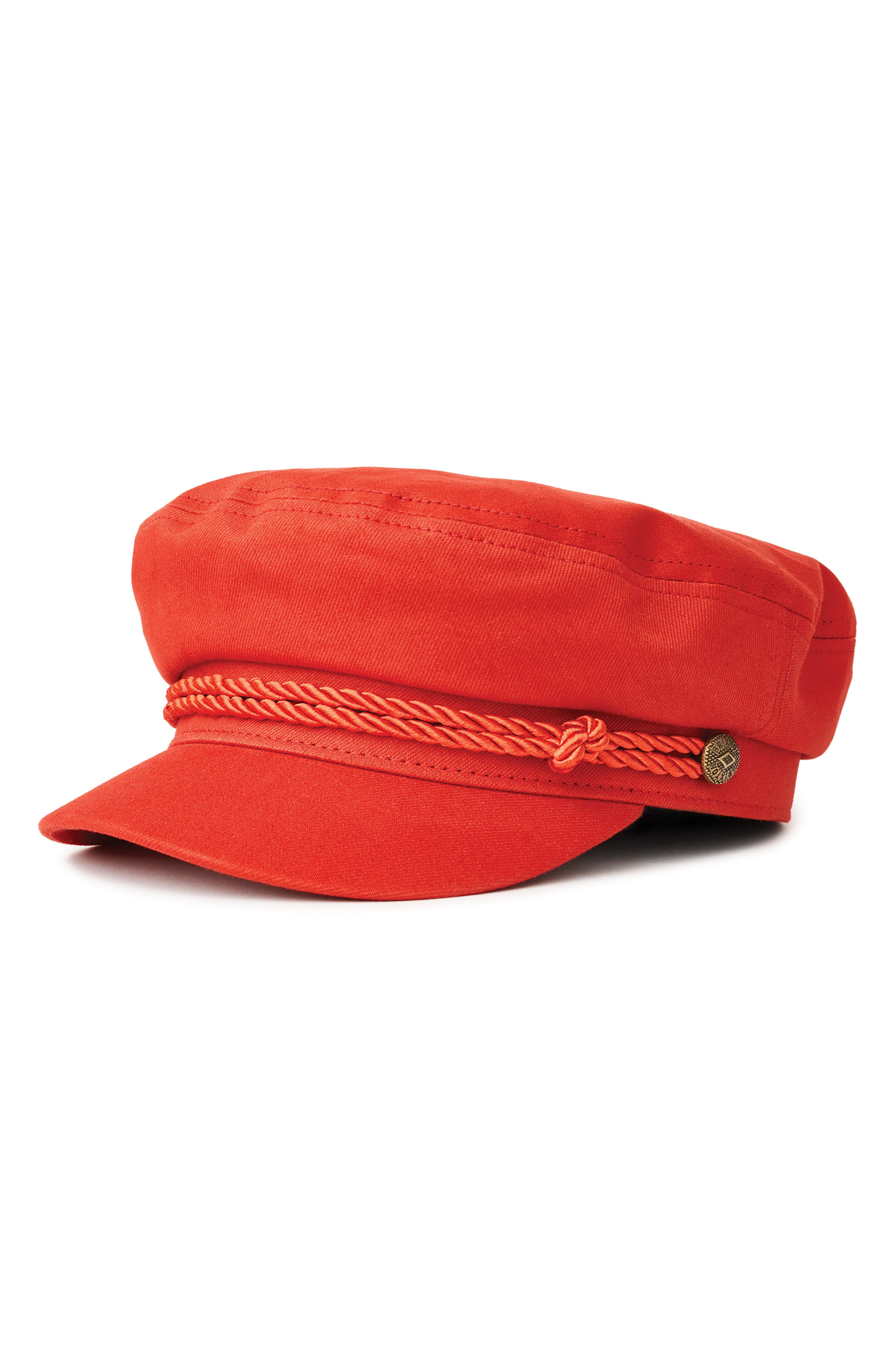 Fiddler Cap,                             Main thumbnail 1, color,                             RED/ RED
