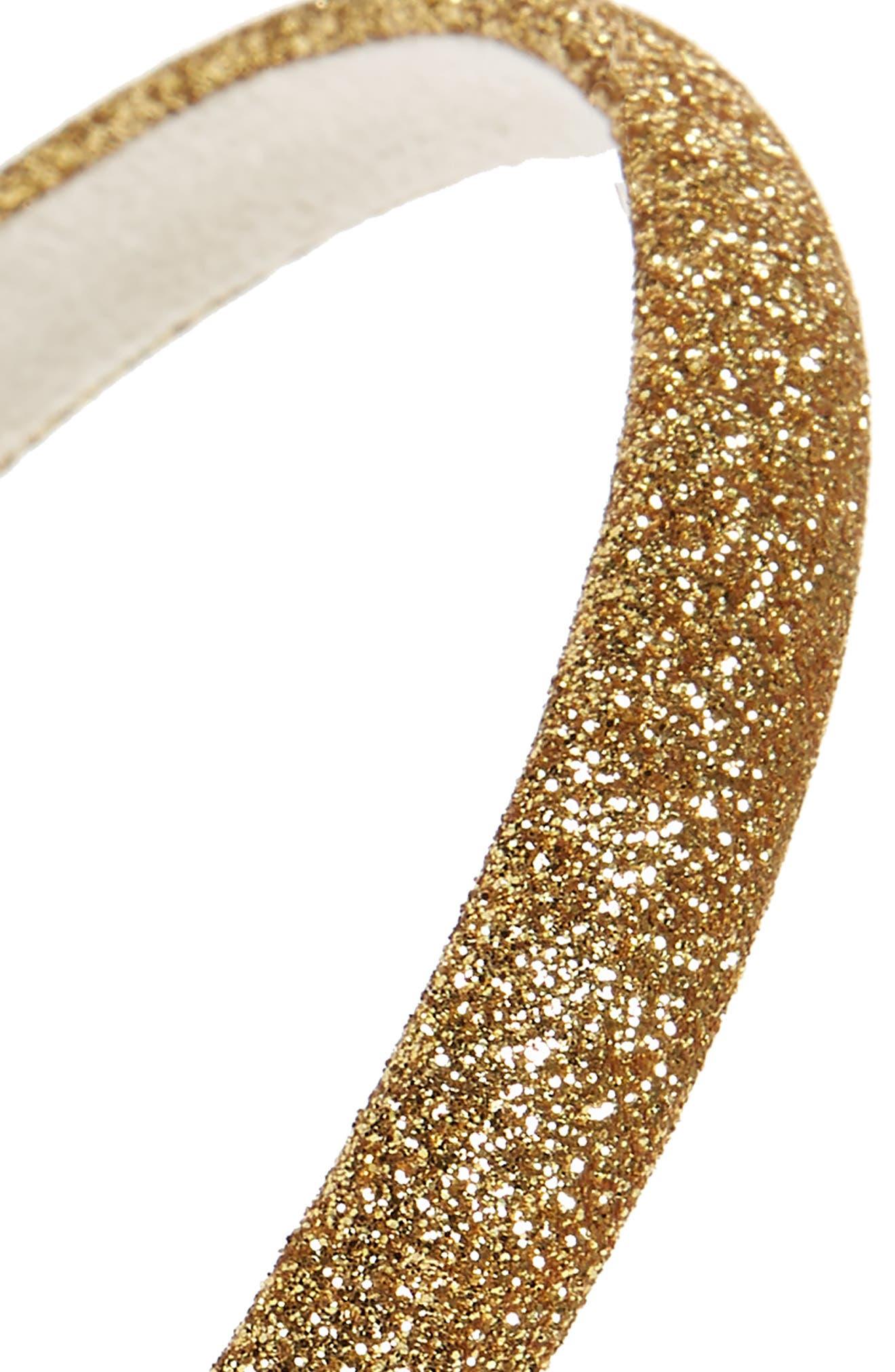 Glitter Slim Headband,                             Alternate thumbnail 2, color,                             GOLD