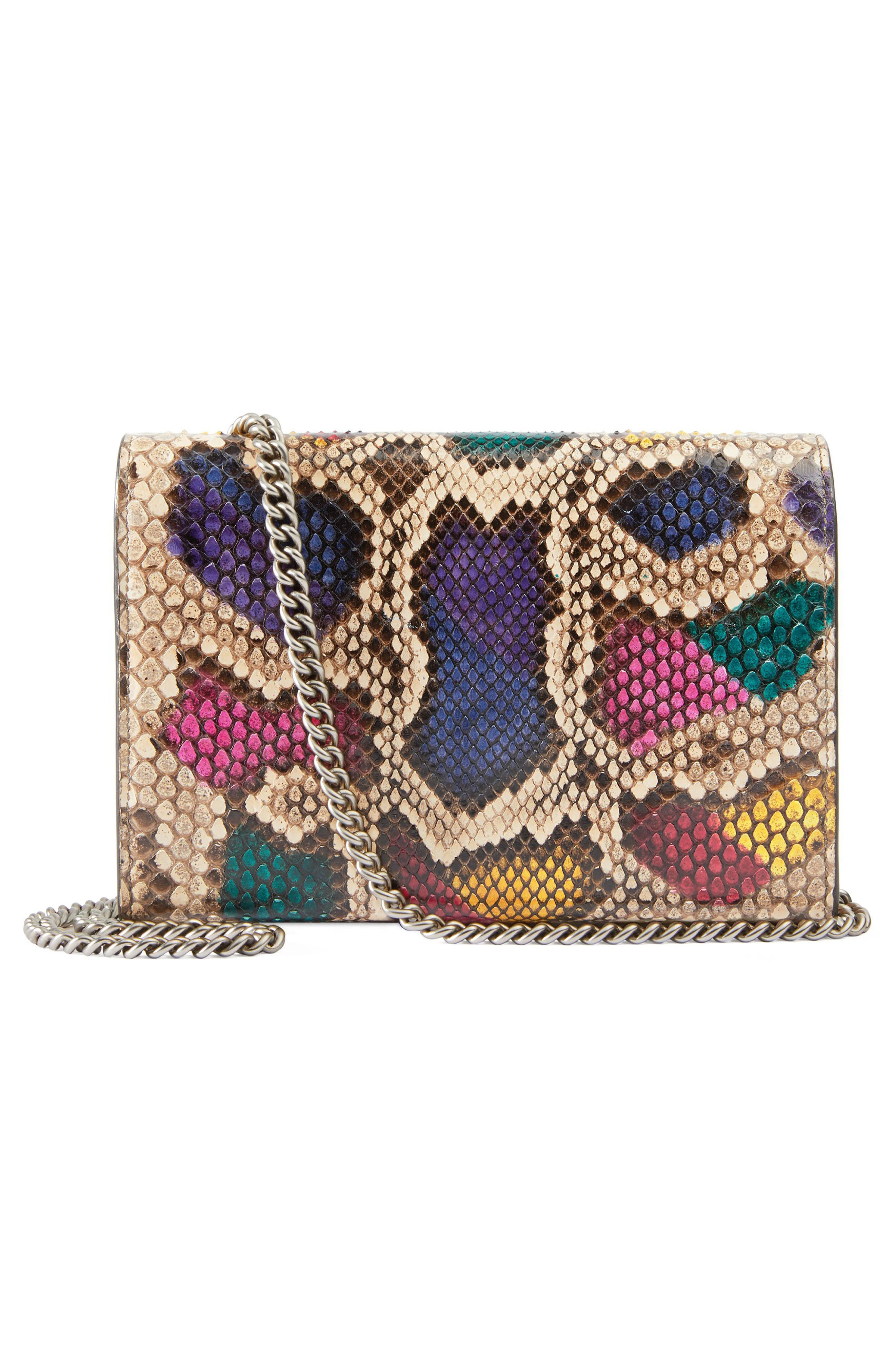 Dionysus Genuine Python Clutch,                             Alternate thumbnail 2, color,                             250