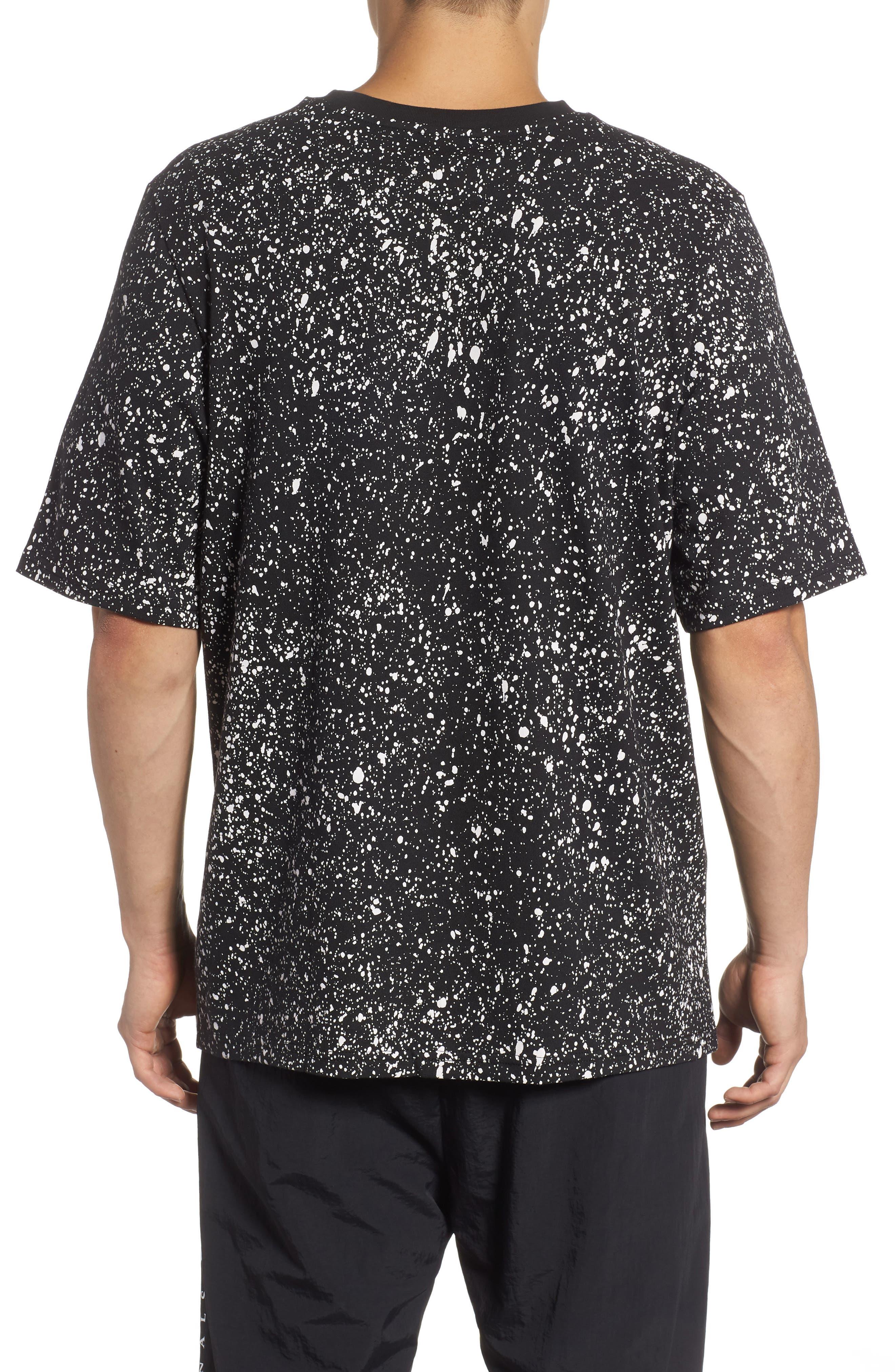 Planetoid Allover Print T-Shirt,                             Alternate thumbnail 2, color,                             BLACK