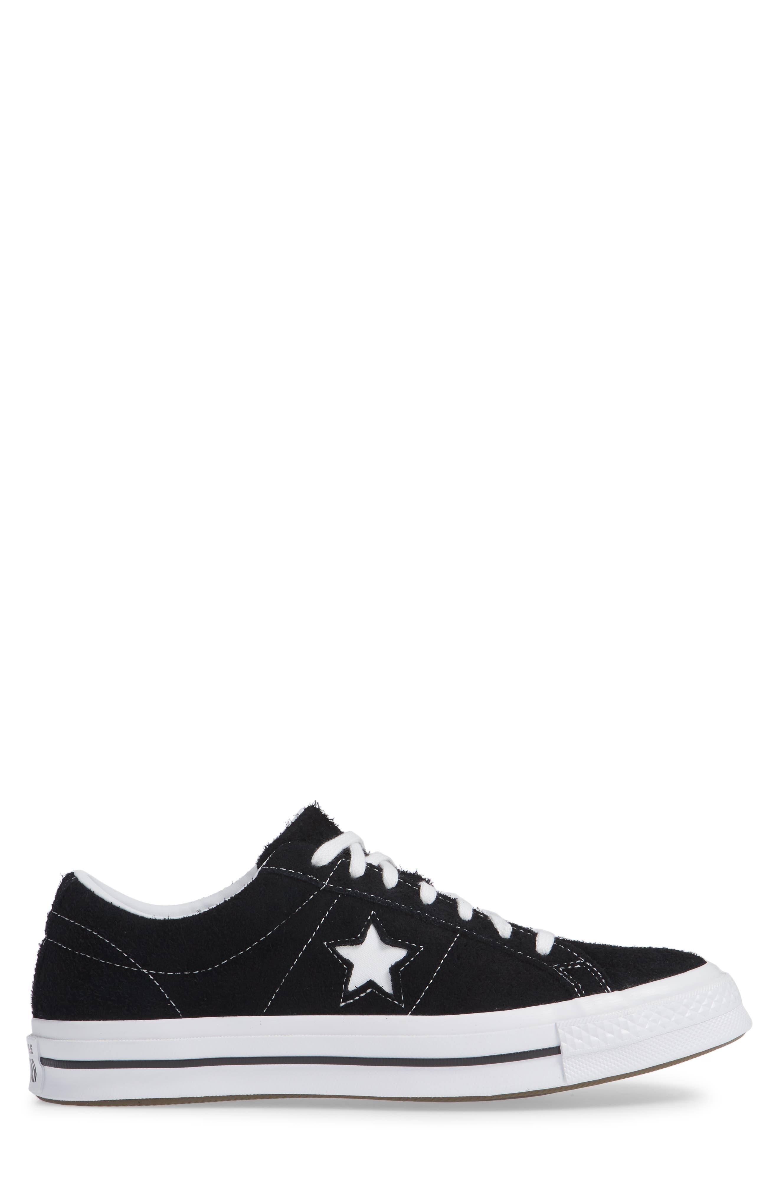 One Star Low Top Sneaker,                             Alternate thumbnail 3, color,                             MASON TEXTILE