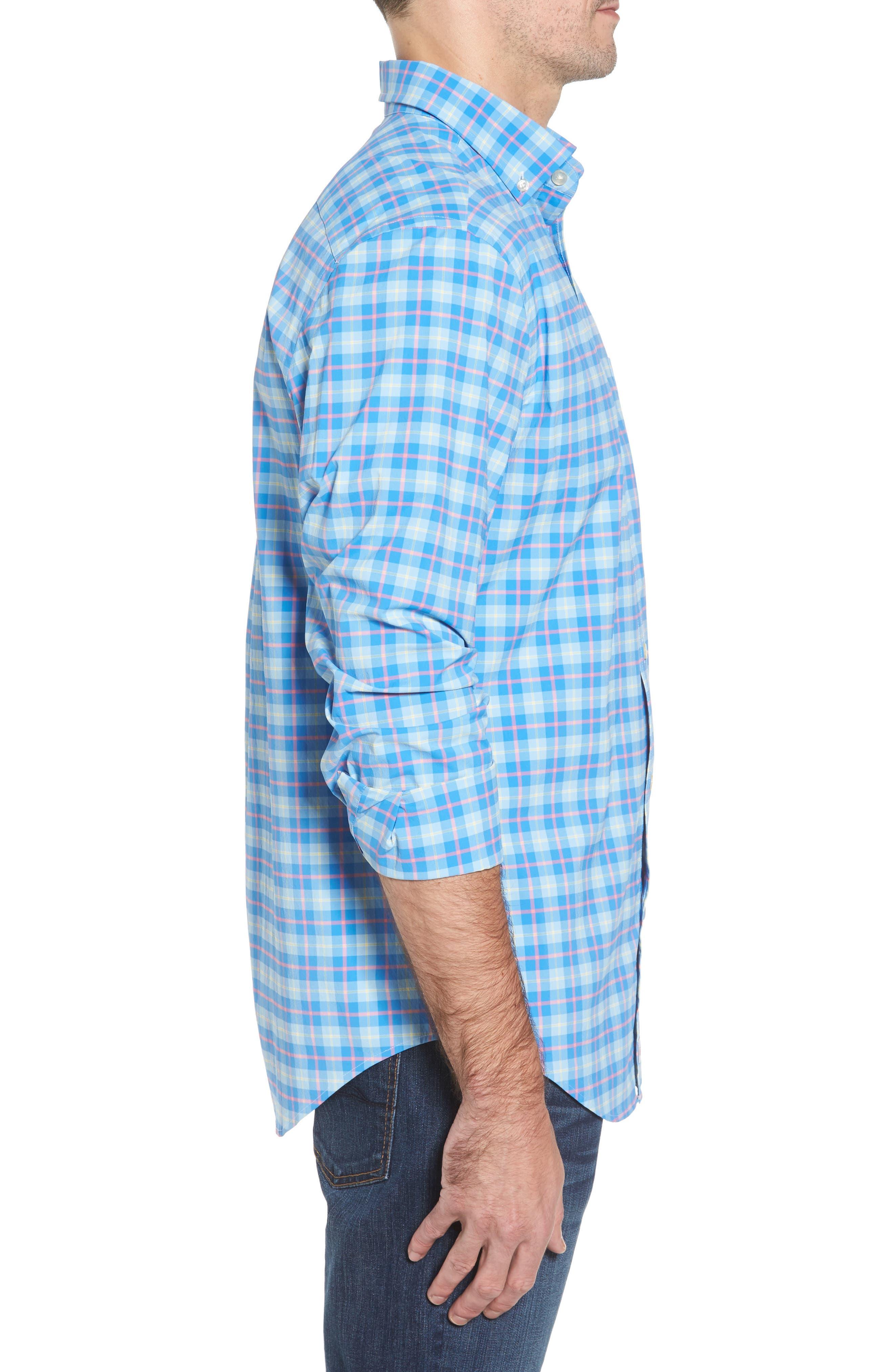 Blue Heron Classic Fit Plaid Sport Shirt,                             Alternate thumbnail 3, color,                             477
