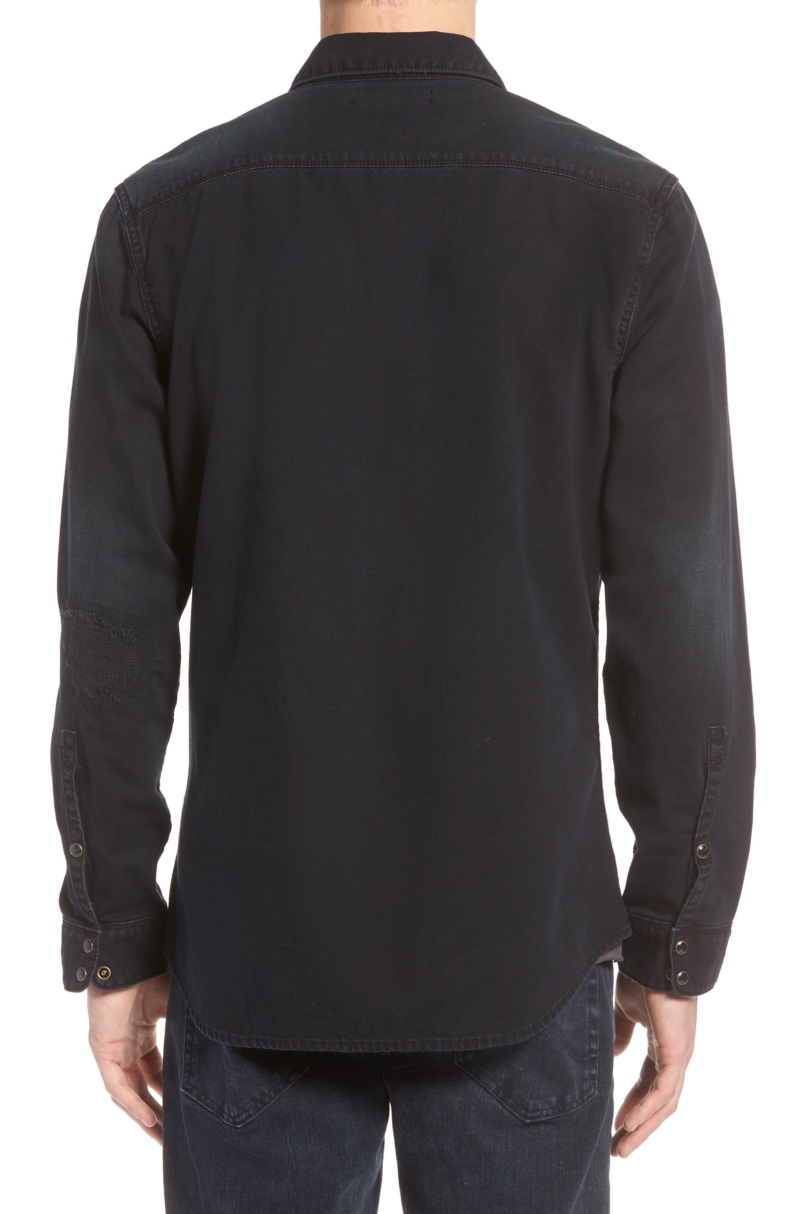 TREASURE & BOND,                             Western Denim Sport Shirt,                             Alternate thumbnail 2, color,                             002
