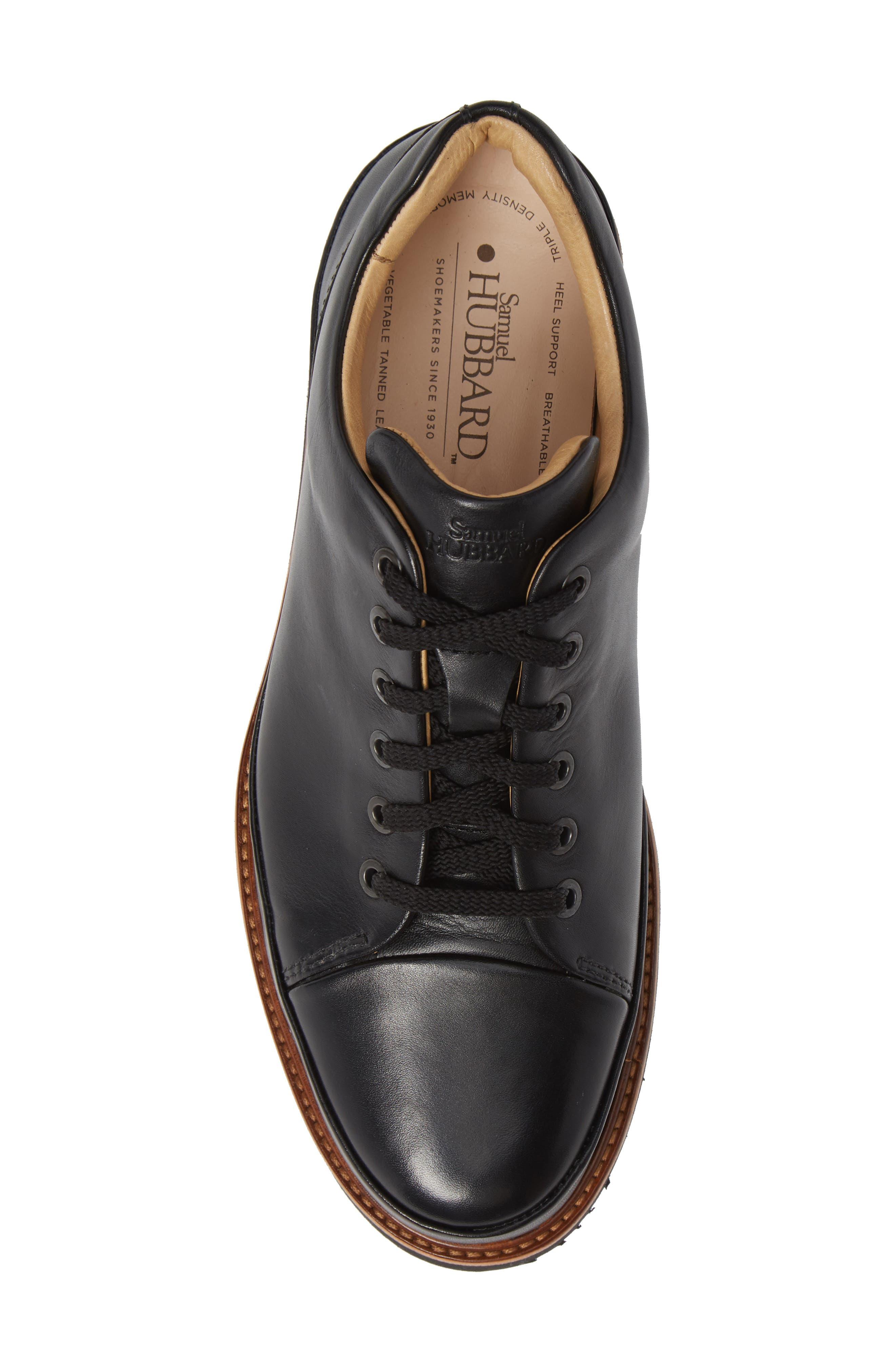 Dress Fast Plain Toe Oxford,                             Alternate thumbnail 5, color,                             BLACK/ BLACK