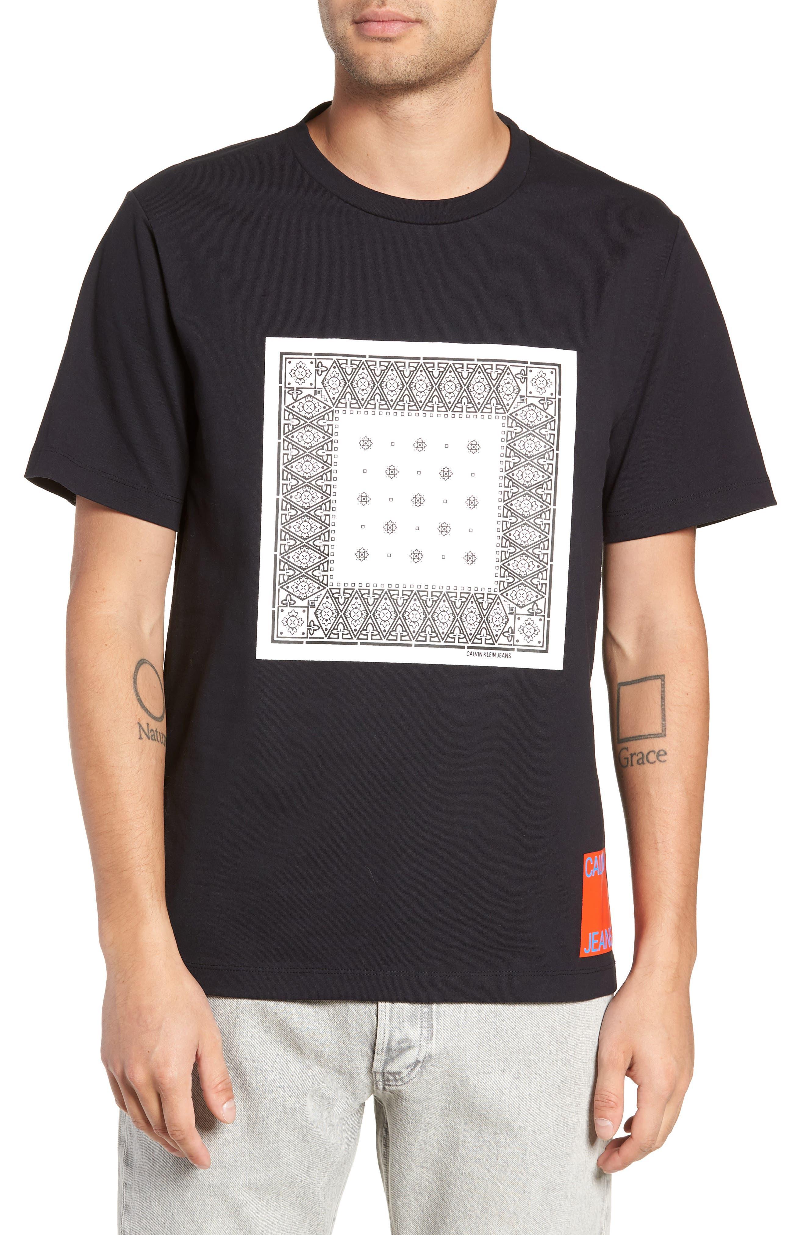 Bandanna Graphic T-Shirt,                         Main,                         color, BLACK