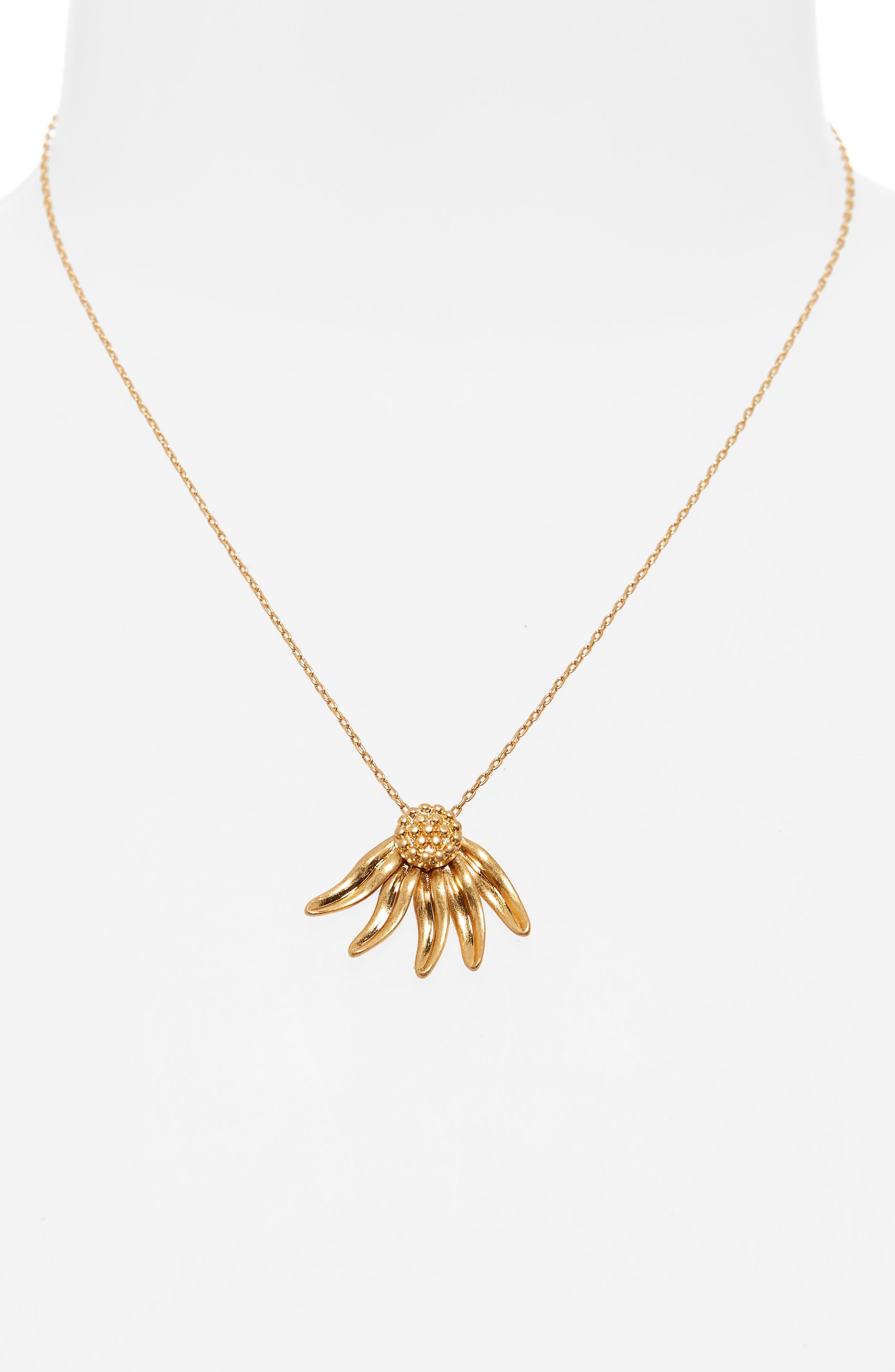 Fallen Petals Necklace,                             Alternate thumbnail 2, color,                             VINTAGE GOLD