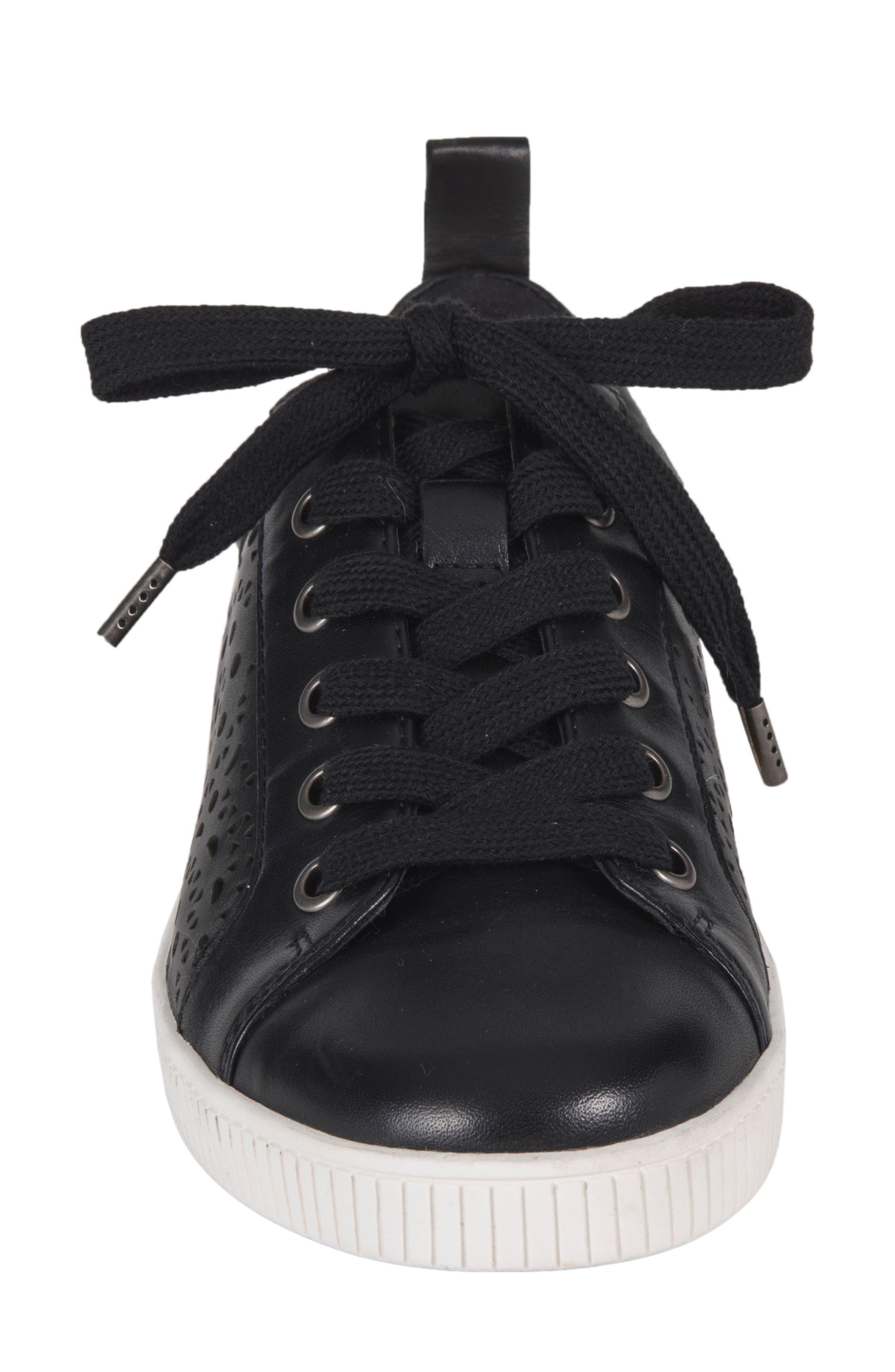 Tangor Perforated Sneaker,                             Alternate thumbnail 4, color,                             001