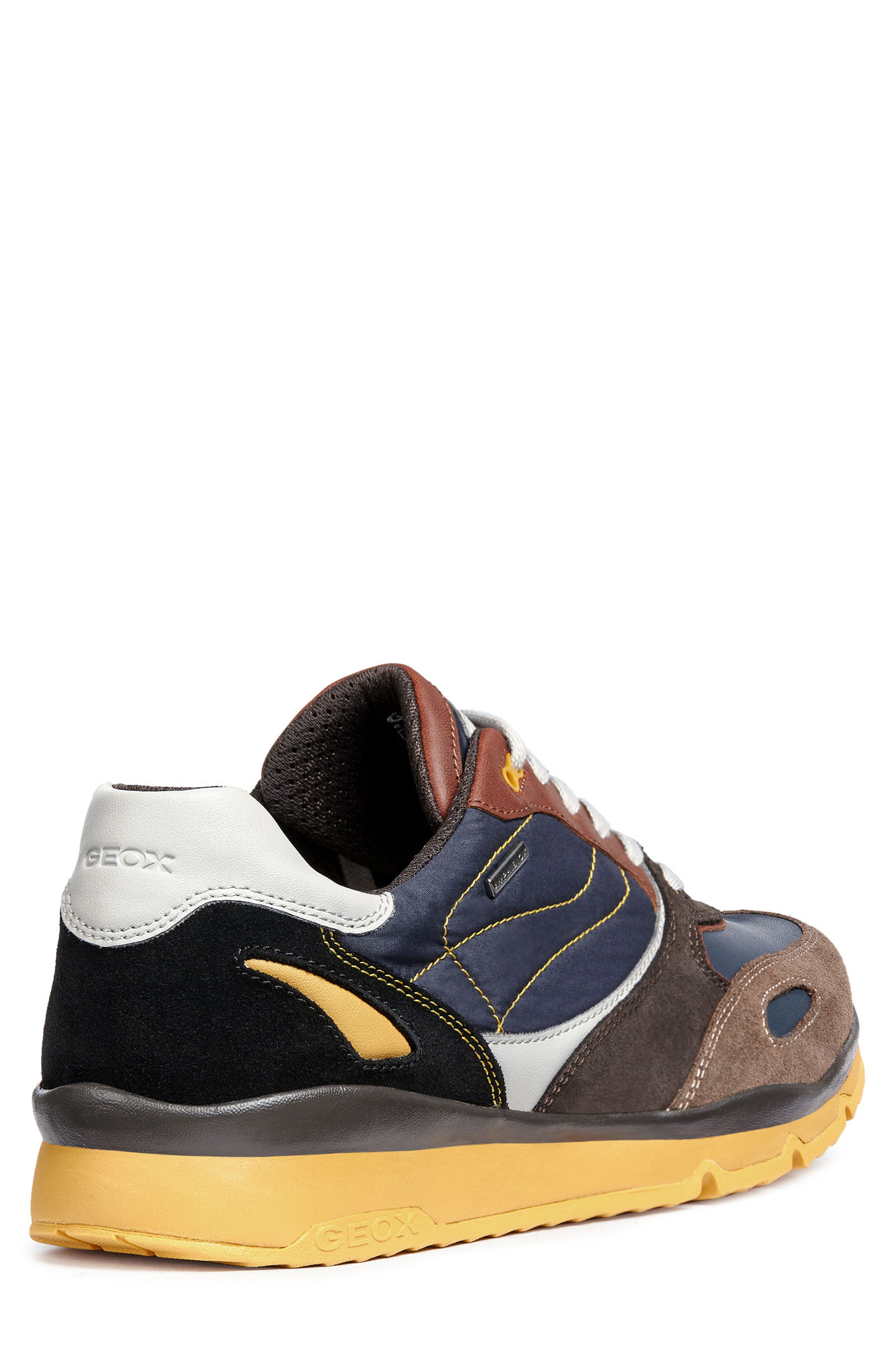 Sandford ABX 1 Waterproof Low Top Sneaker,                             Alternate thumbnail 2, color,                             CHOCOLATE/ NAVY LEATHER