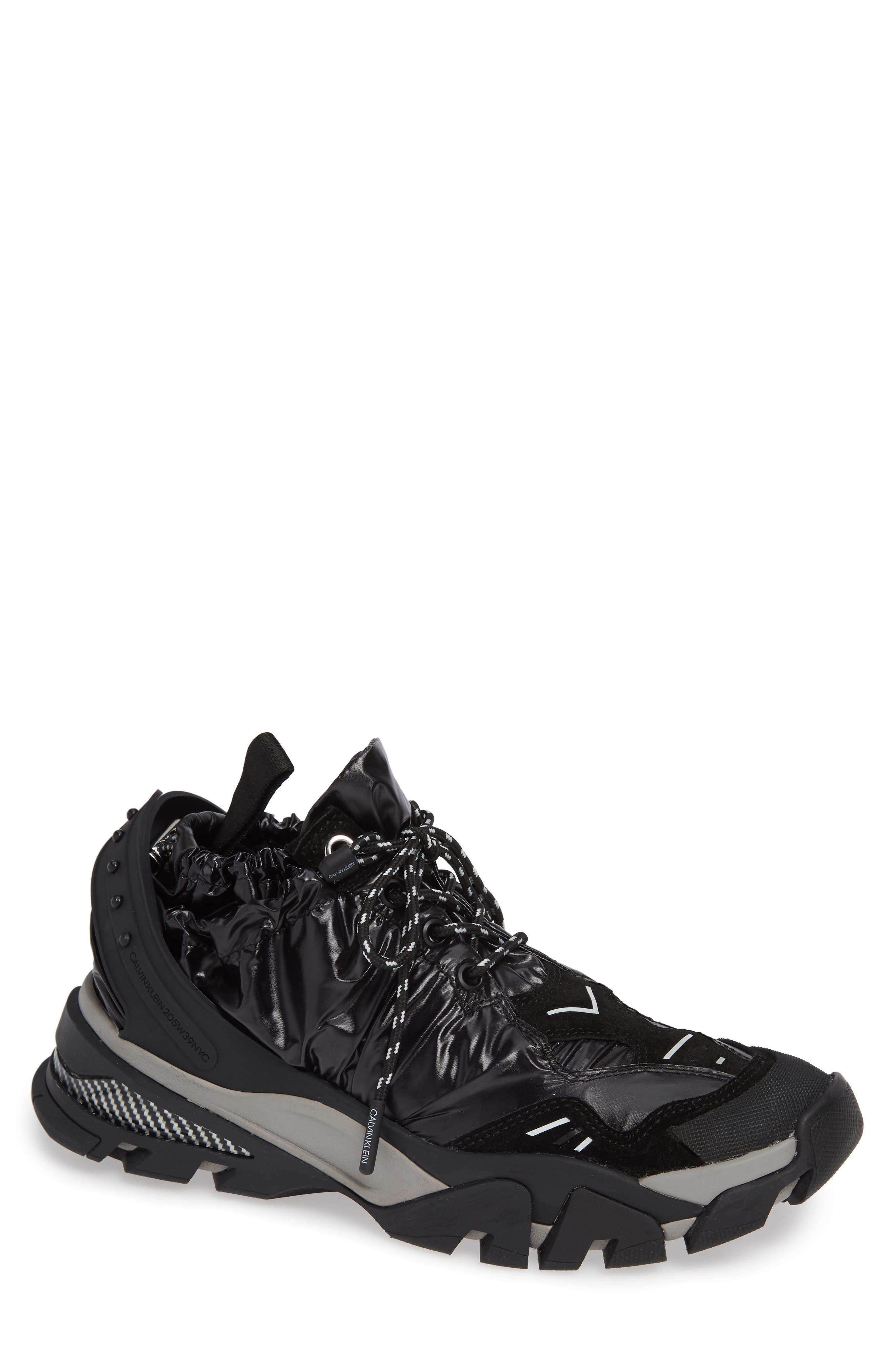Carsdat 10 Elastic Sneaker,                             Main thumbnail 1, color,                             BLACK
