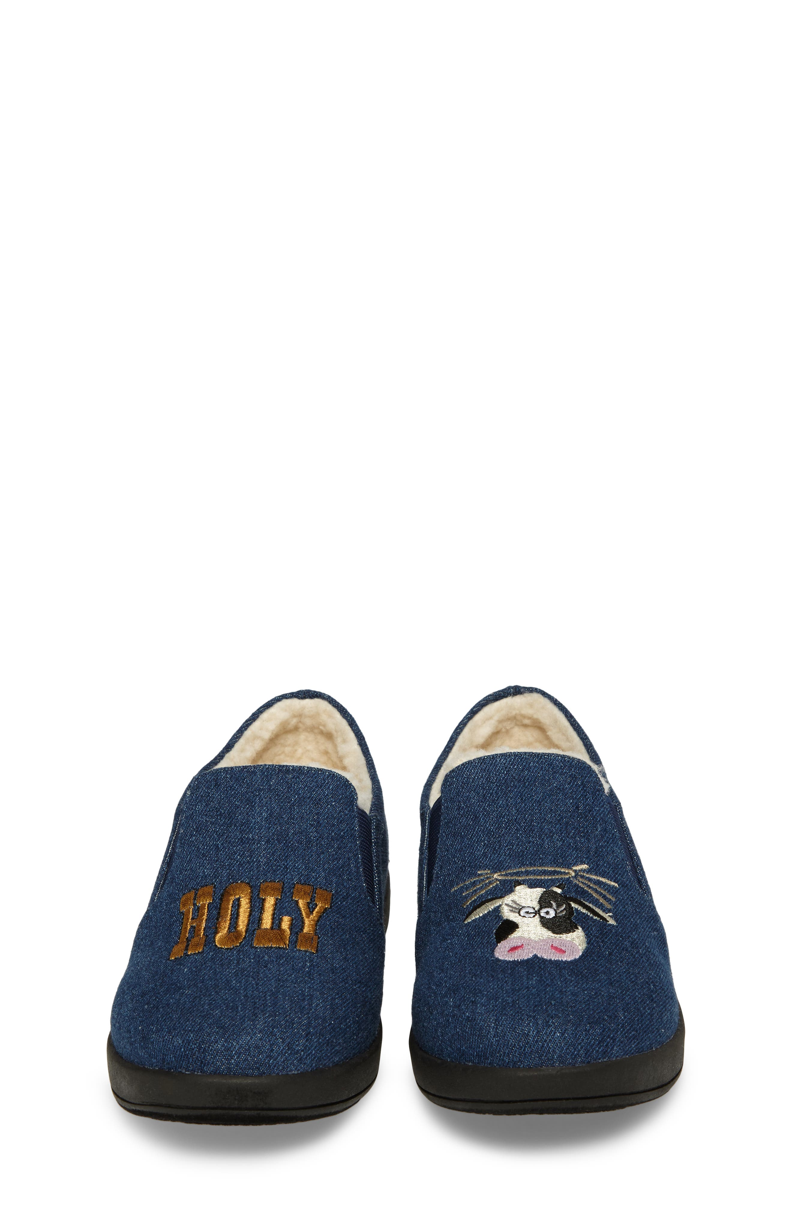 Cynthia Tala Holy Cow Embroidered Slippers,                             Alternate thumbnail 4, color,                             400