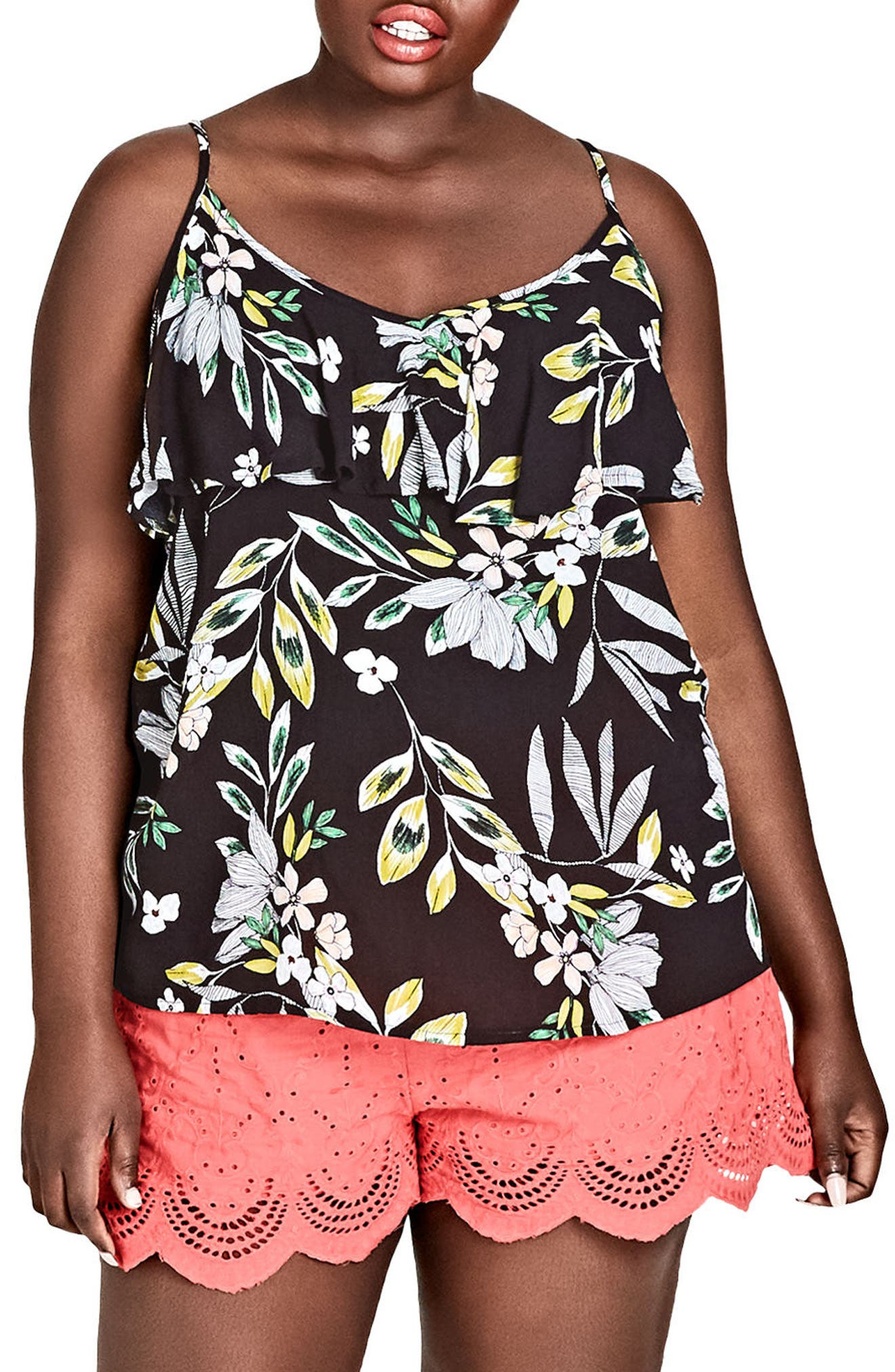 Maui Floral Top,                         Main,                         color, MAUI FLORAL