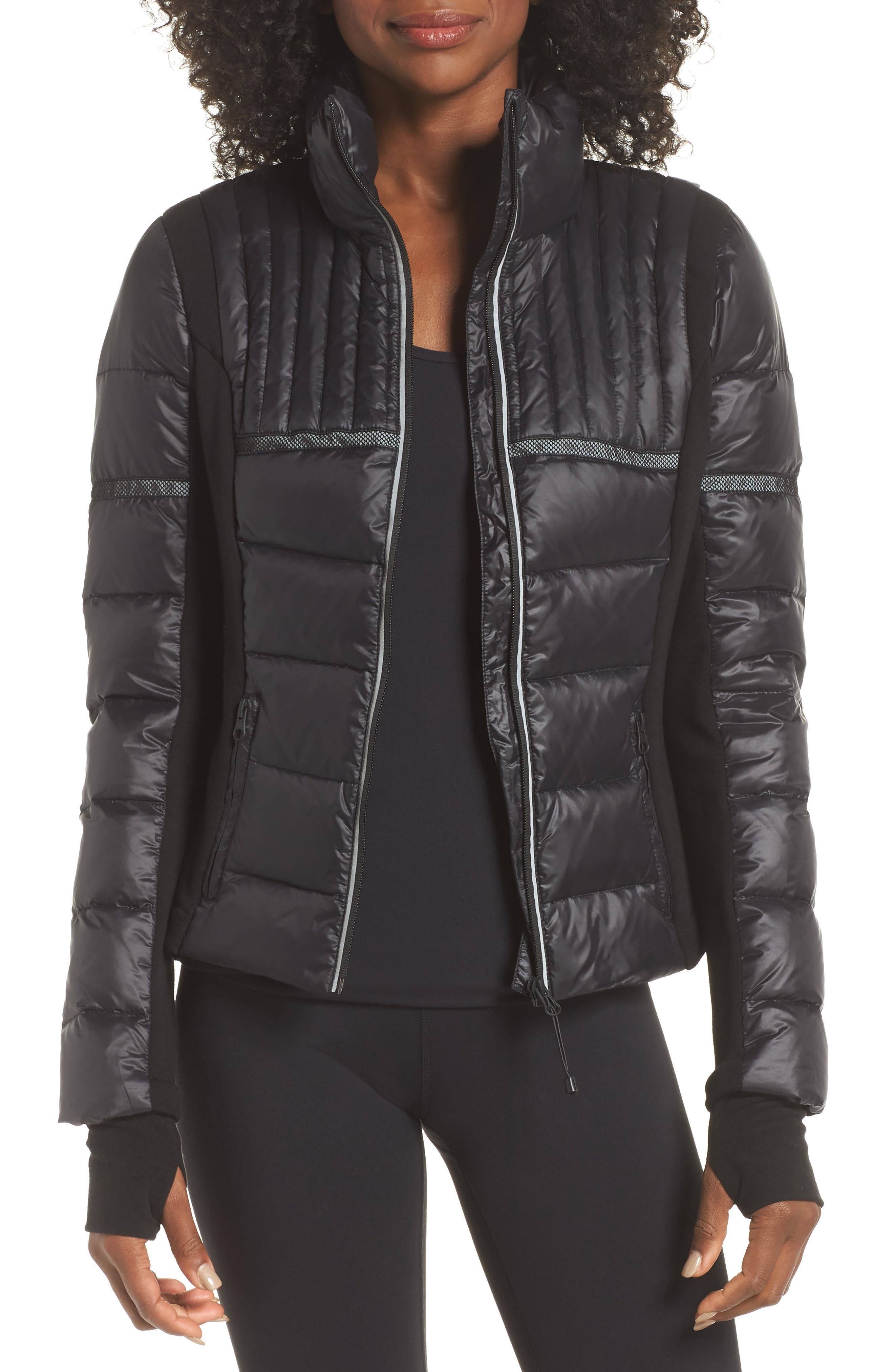 Blanc Noir Reflective Feather Weight Down Jacket, Black