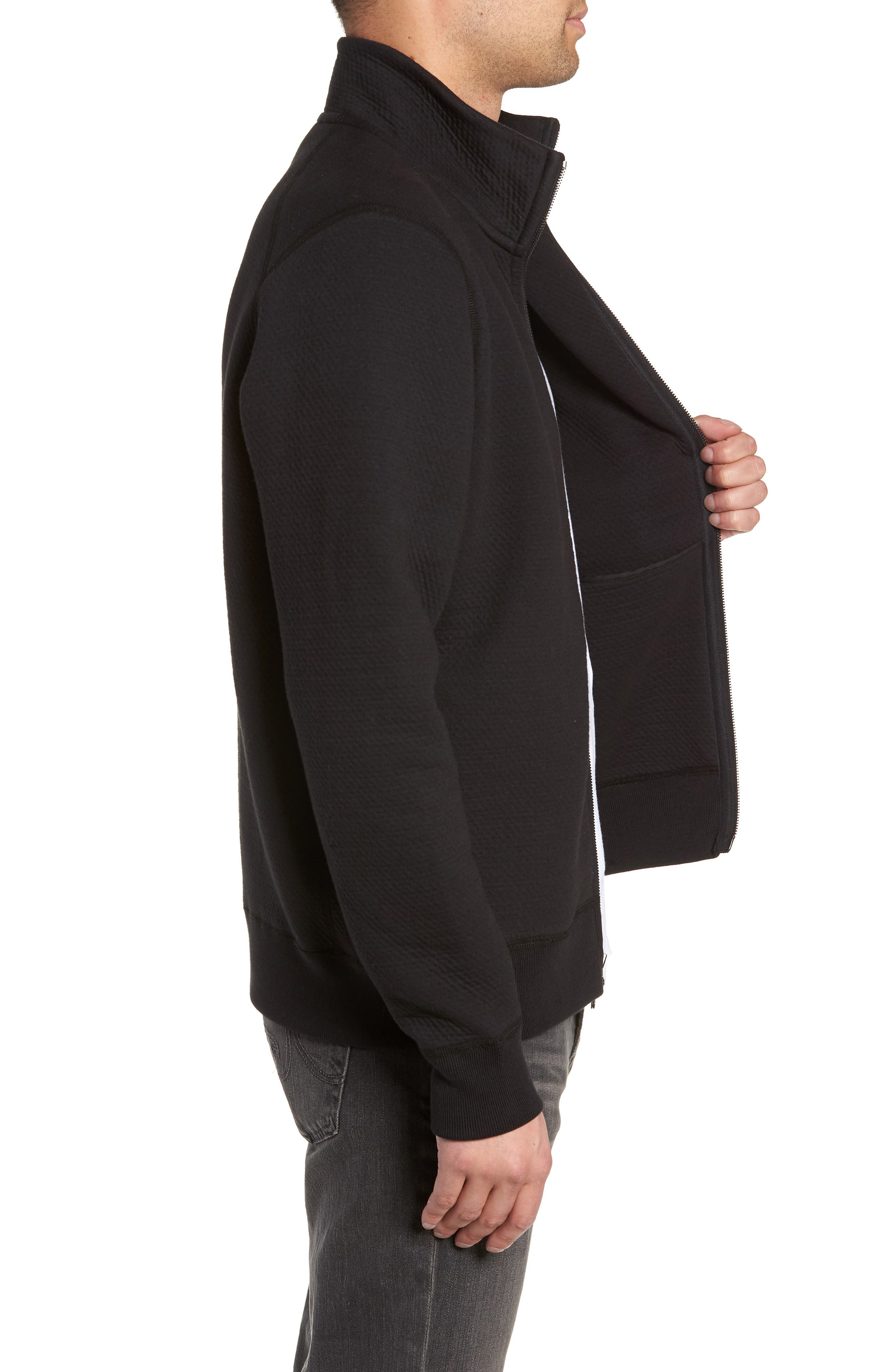 Cabin Fleece Jacket,                             Alternate thumbnail 3, color,                             BLACK