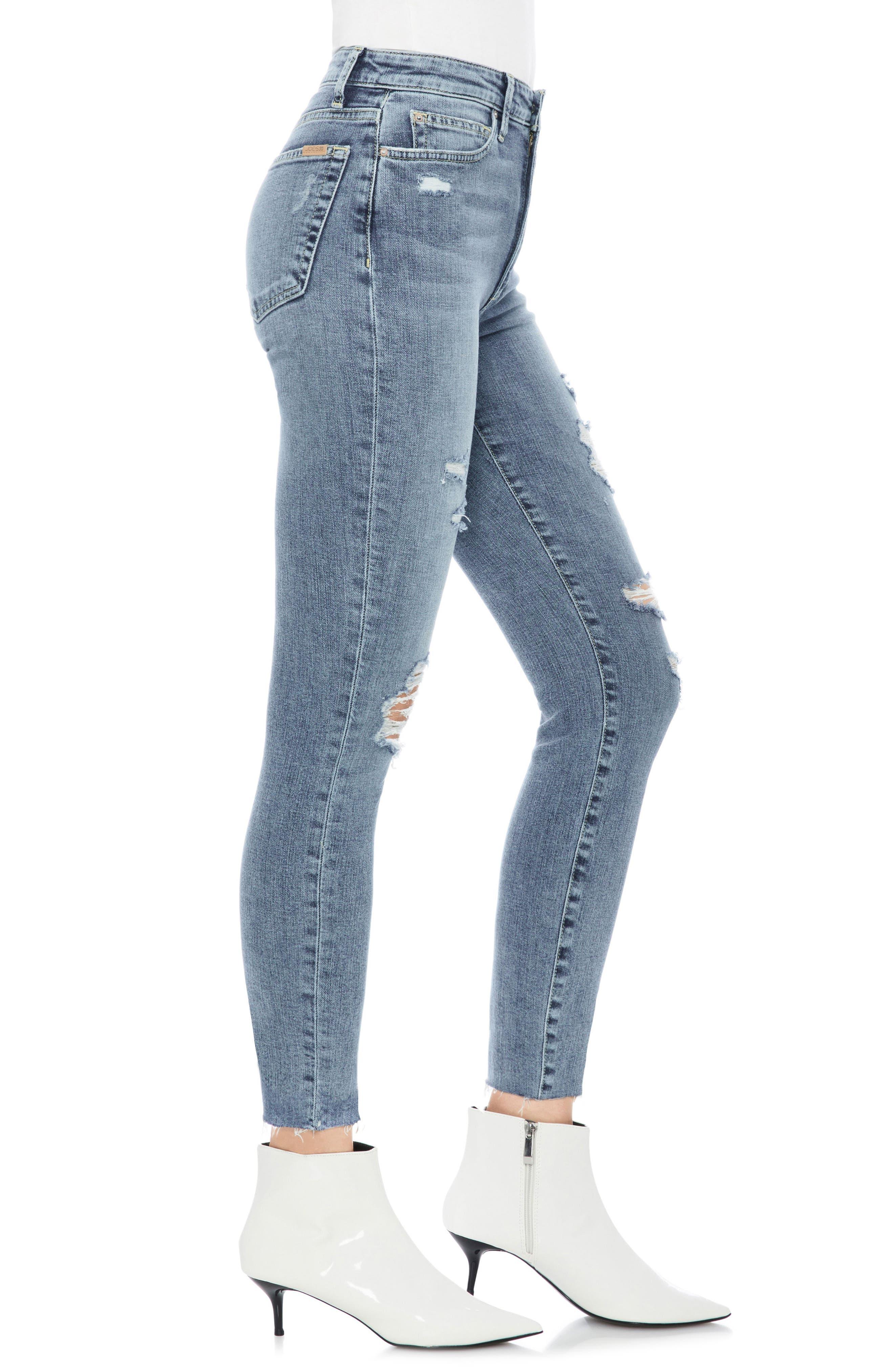 JOE'S,                             Charlie Ripped High Waist Crop Skinny Jeans,                             Alternate thumbnail 3, color,                             450