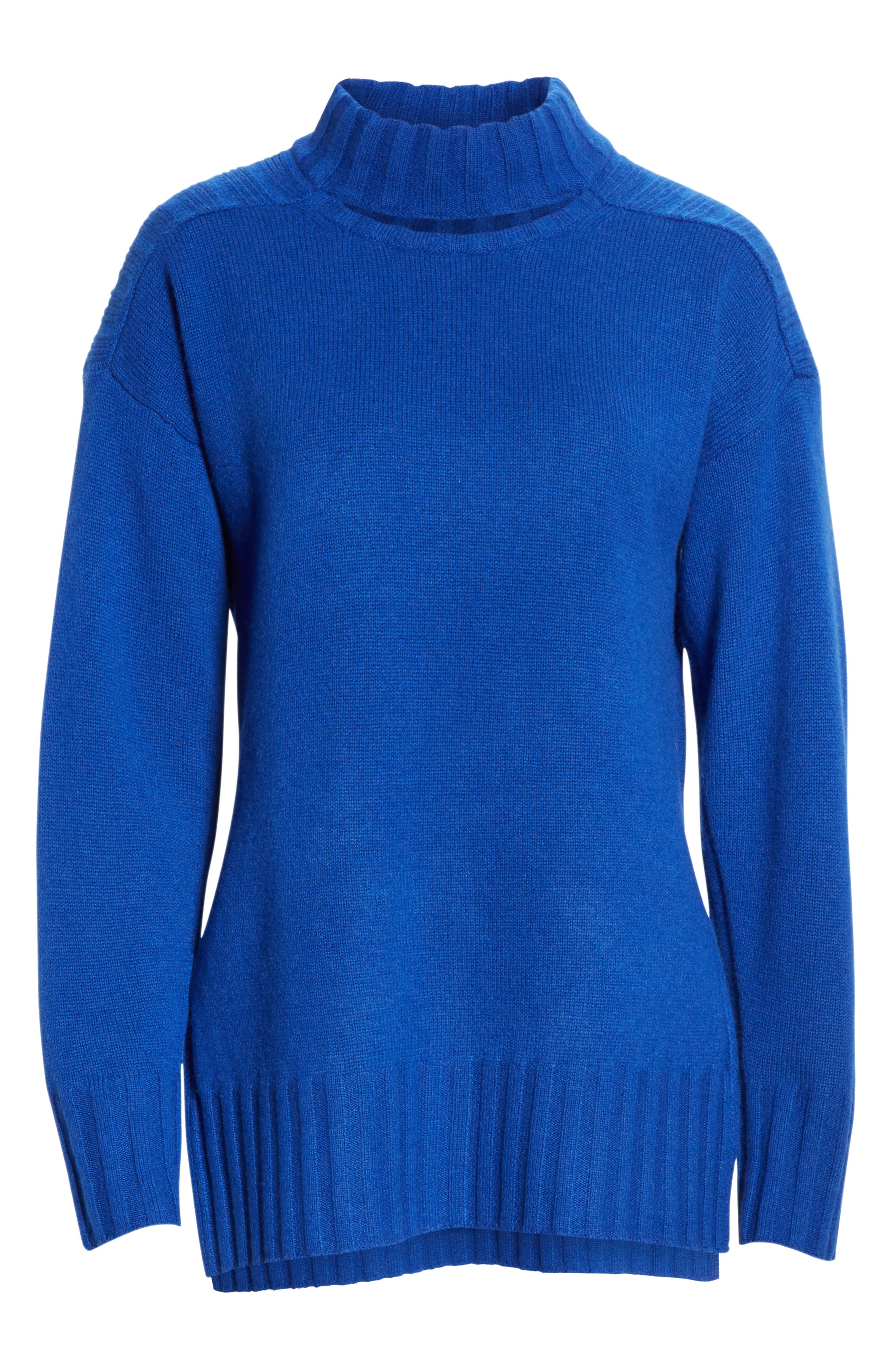 Stratford Wool & Cashmere Sweater,                             Alternate thumbnail 6, color,                             HYPER BLUE