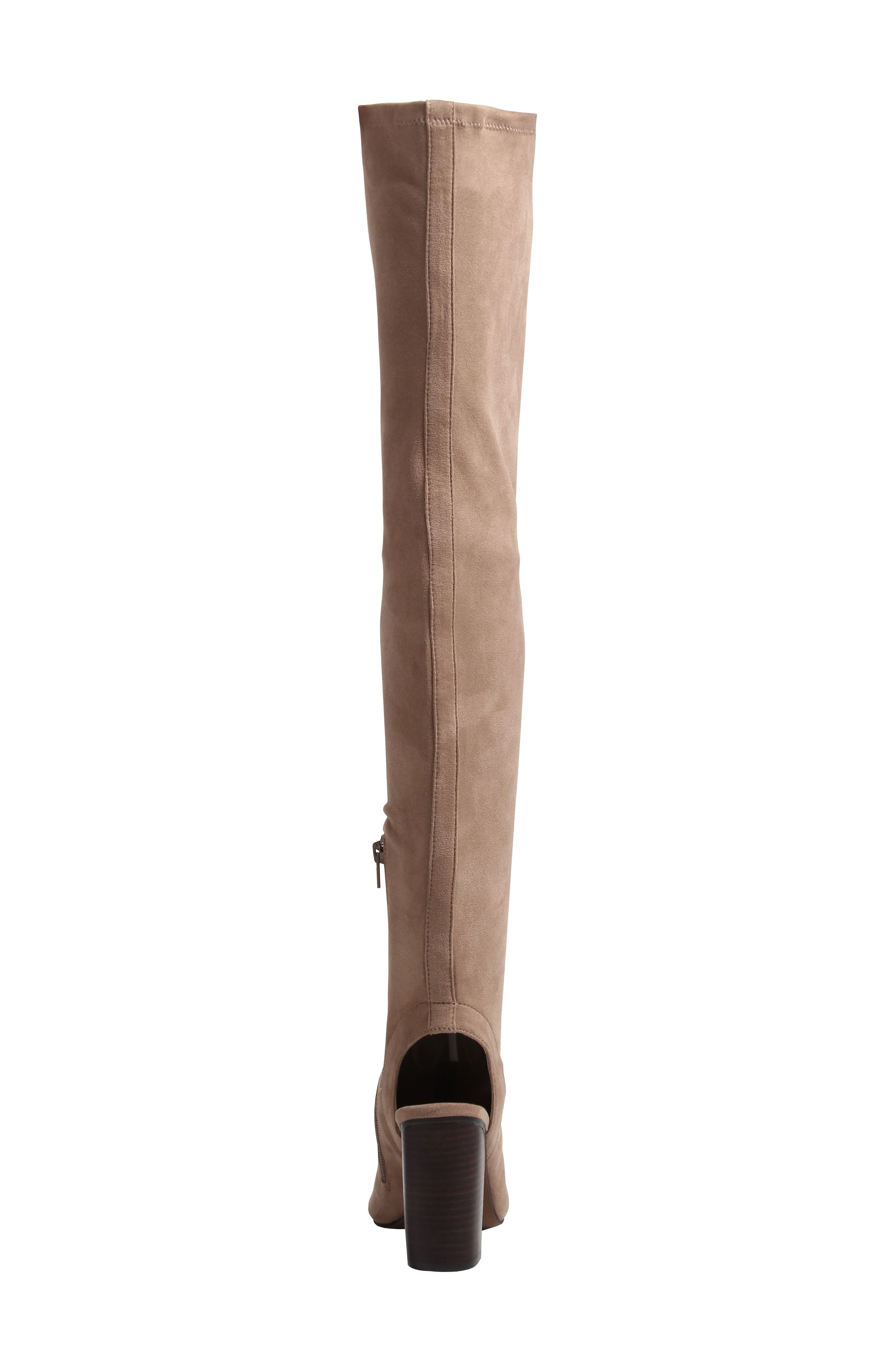 Robyn Cutout Over the Knee Boot,                             Alternate thumbnail 4, color,