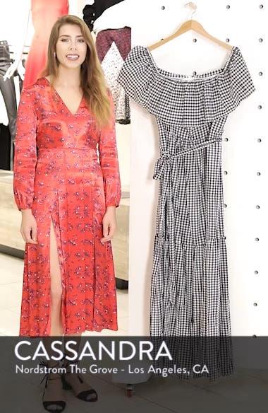Off the Shoulder Gingham Maxi Dress, sales video thumbnail