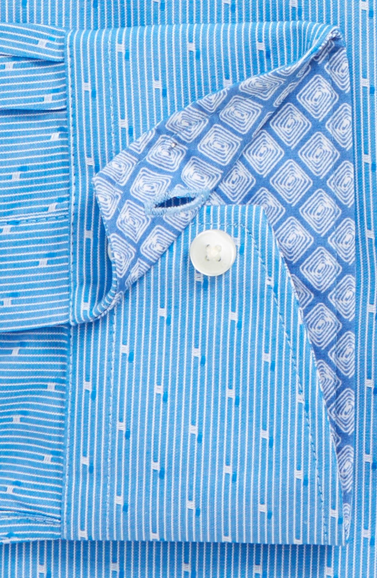 Steam Trim Fit Stripe Dress Shirt,                             Alternate thumbnail 3, color,