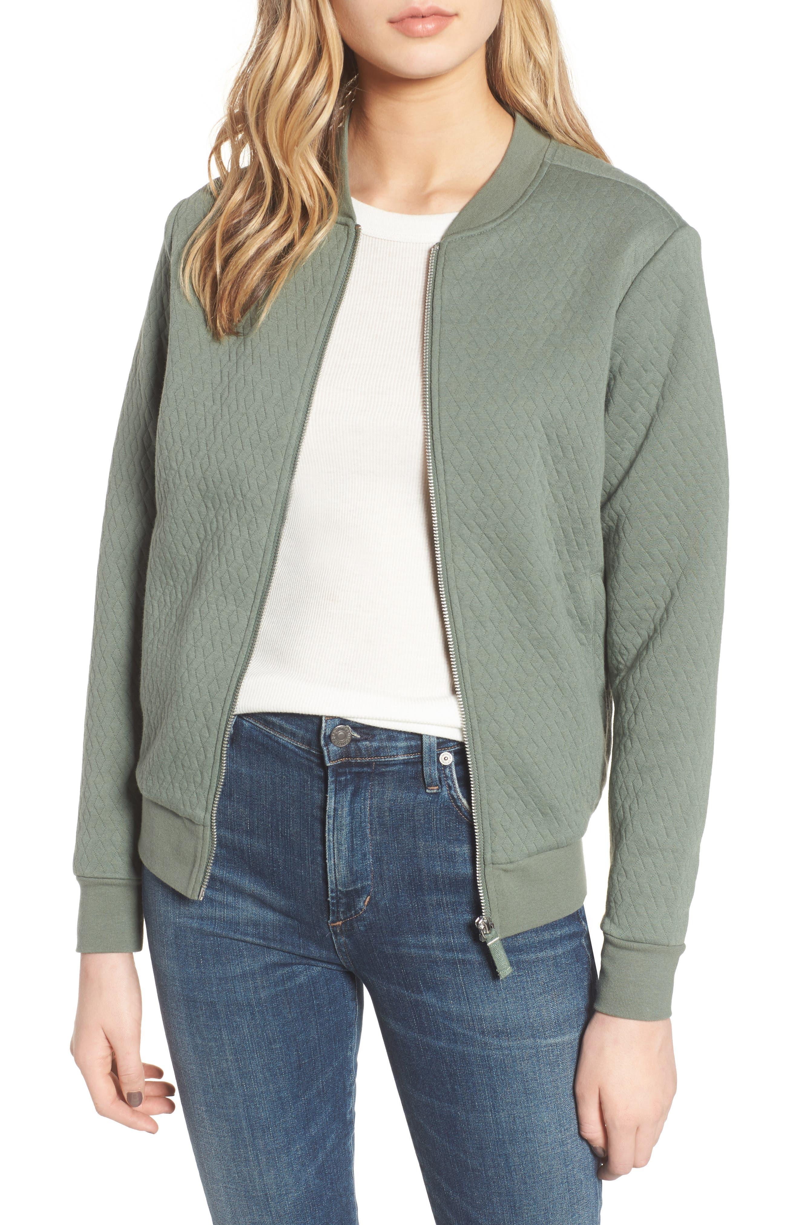 Millie Bomber Sweatshirt Jacket,                         Main,                         color, 301
