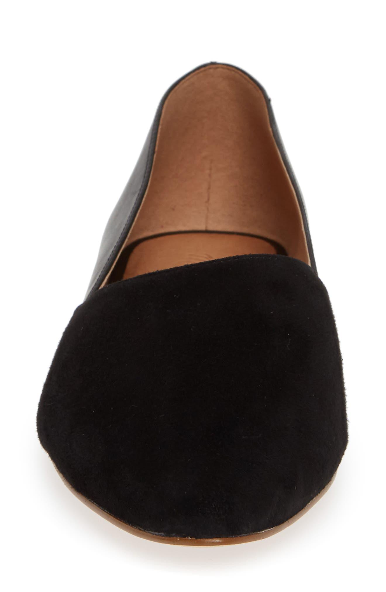 Lizbeth Pointy Toe Flat,                             Alternate thumbnail 4, color,                             001