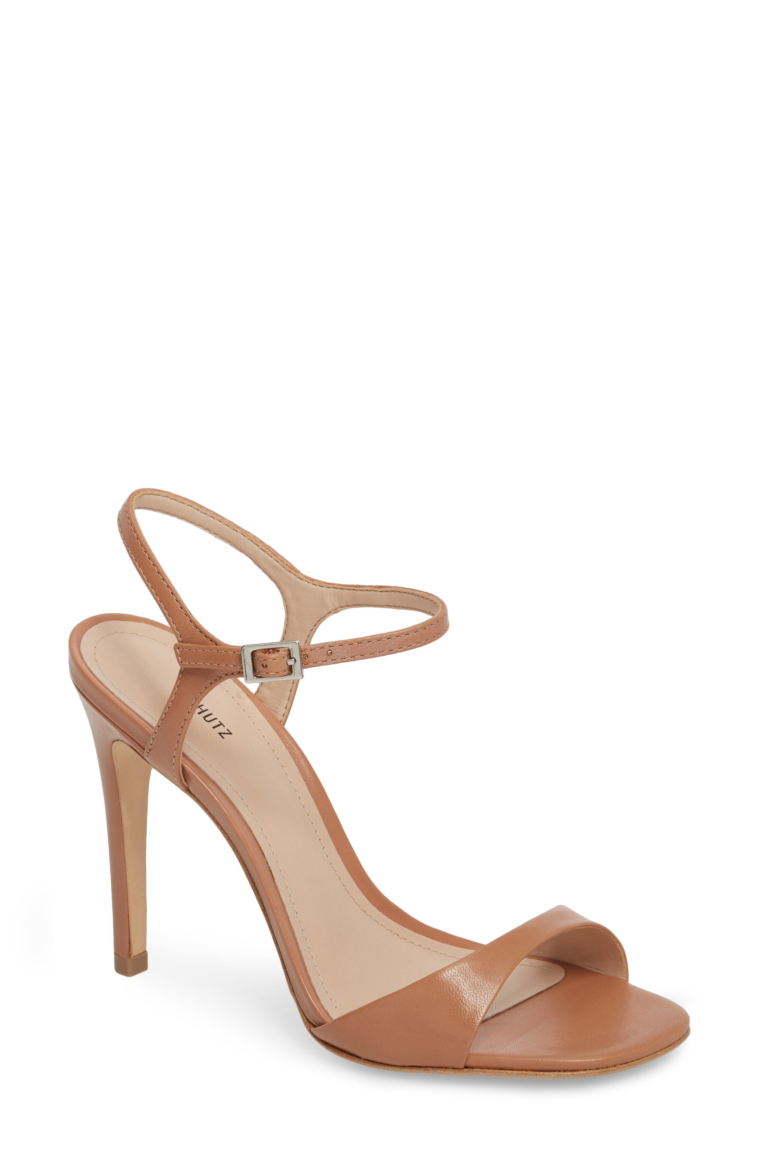 Jade Ankle Strap Sandal,                             Main thumbnail 1, color,                             TOASTED NUT