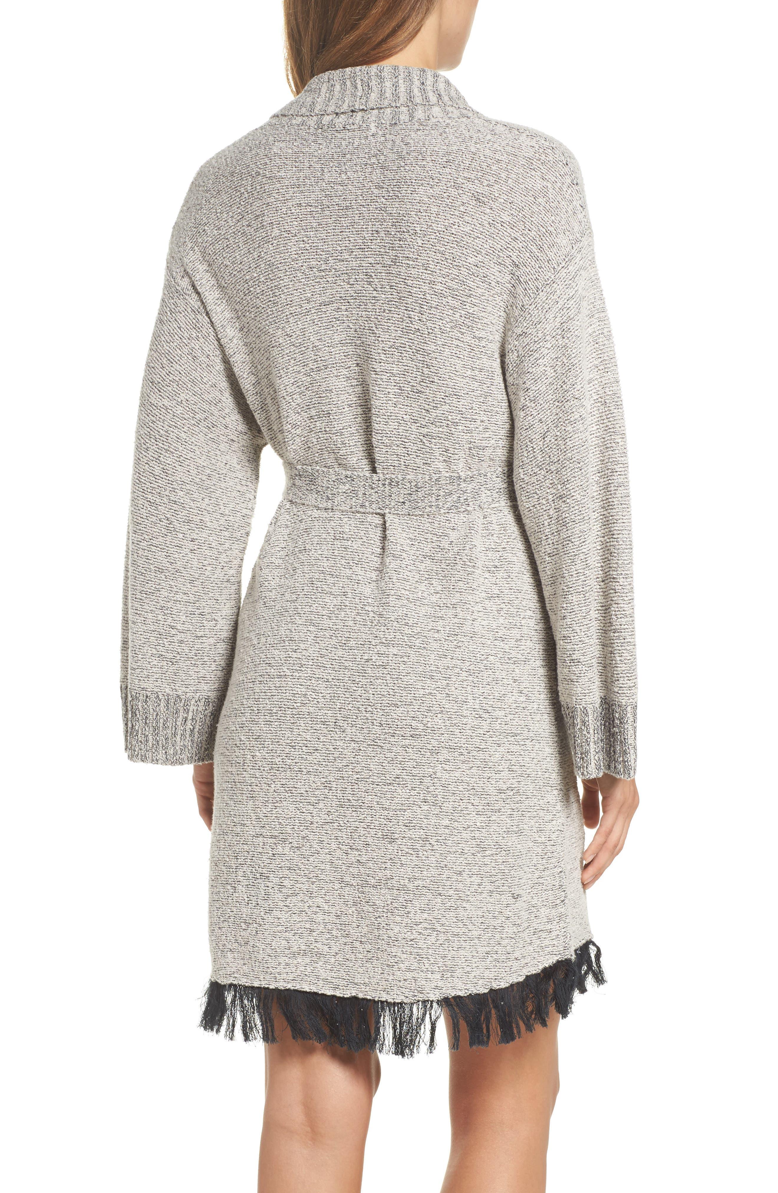 Cozy Bouclé Short Robe,                             Alternate thumbnail 2, color,                             900