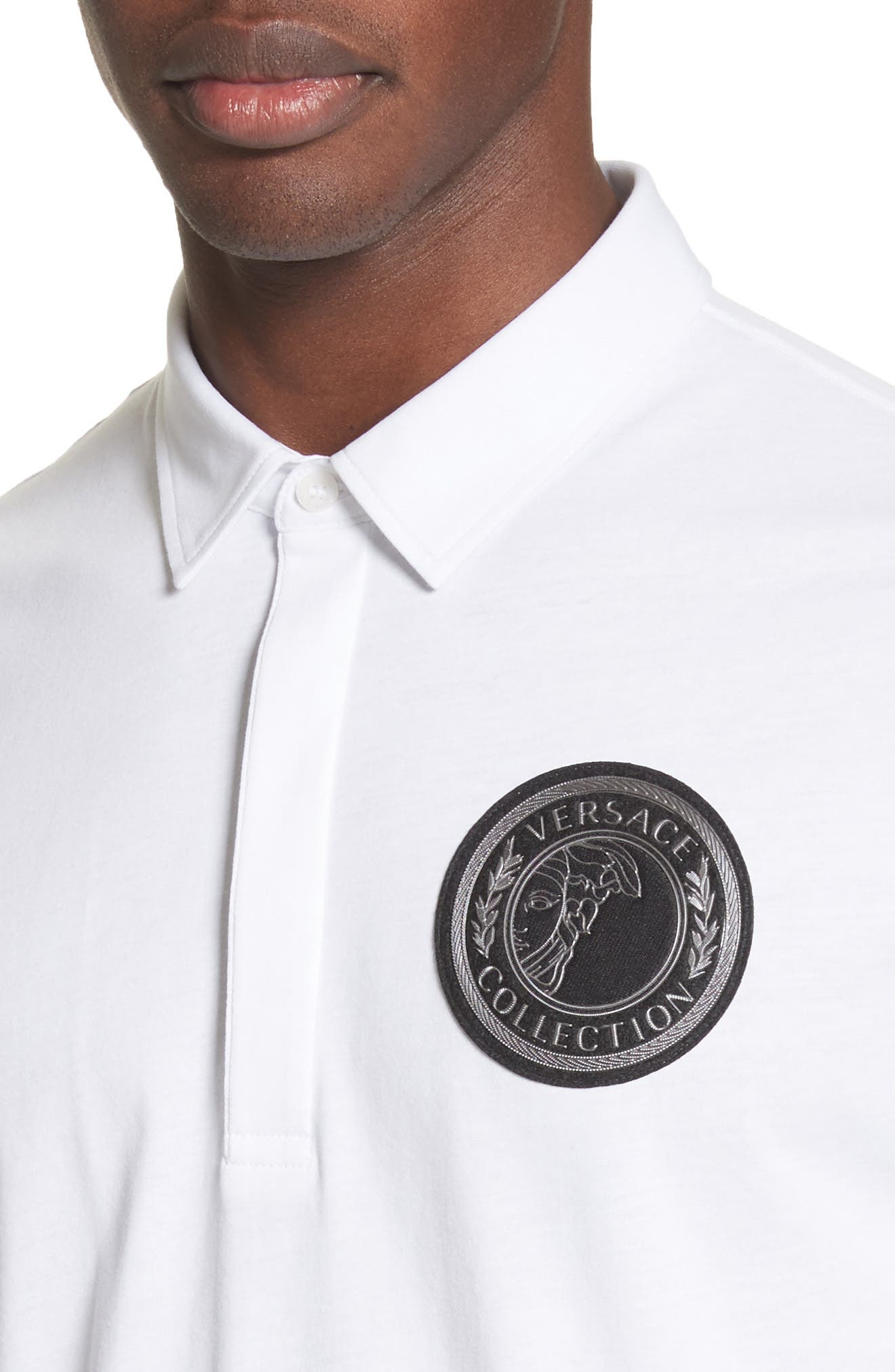Crest Patch Jersey Polo,                             Alternate thumbnail 8, color,