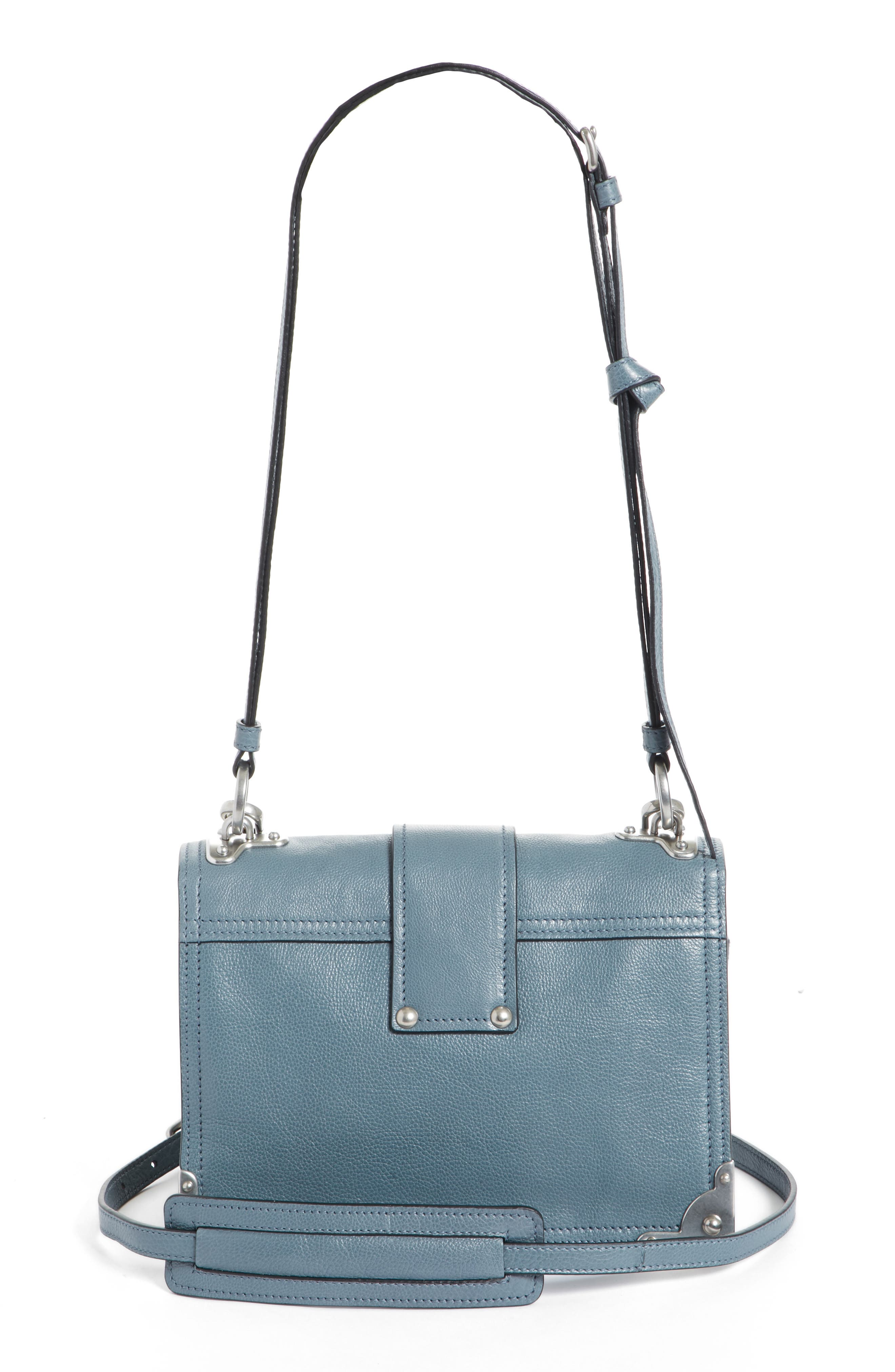 Cahier Glace Calfskin Convertible Shoulder Bag,                             Alternate thumbnail 3, color,                             MARINE/ ASTRALE 1