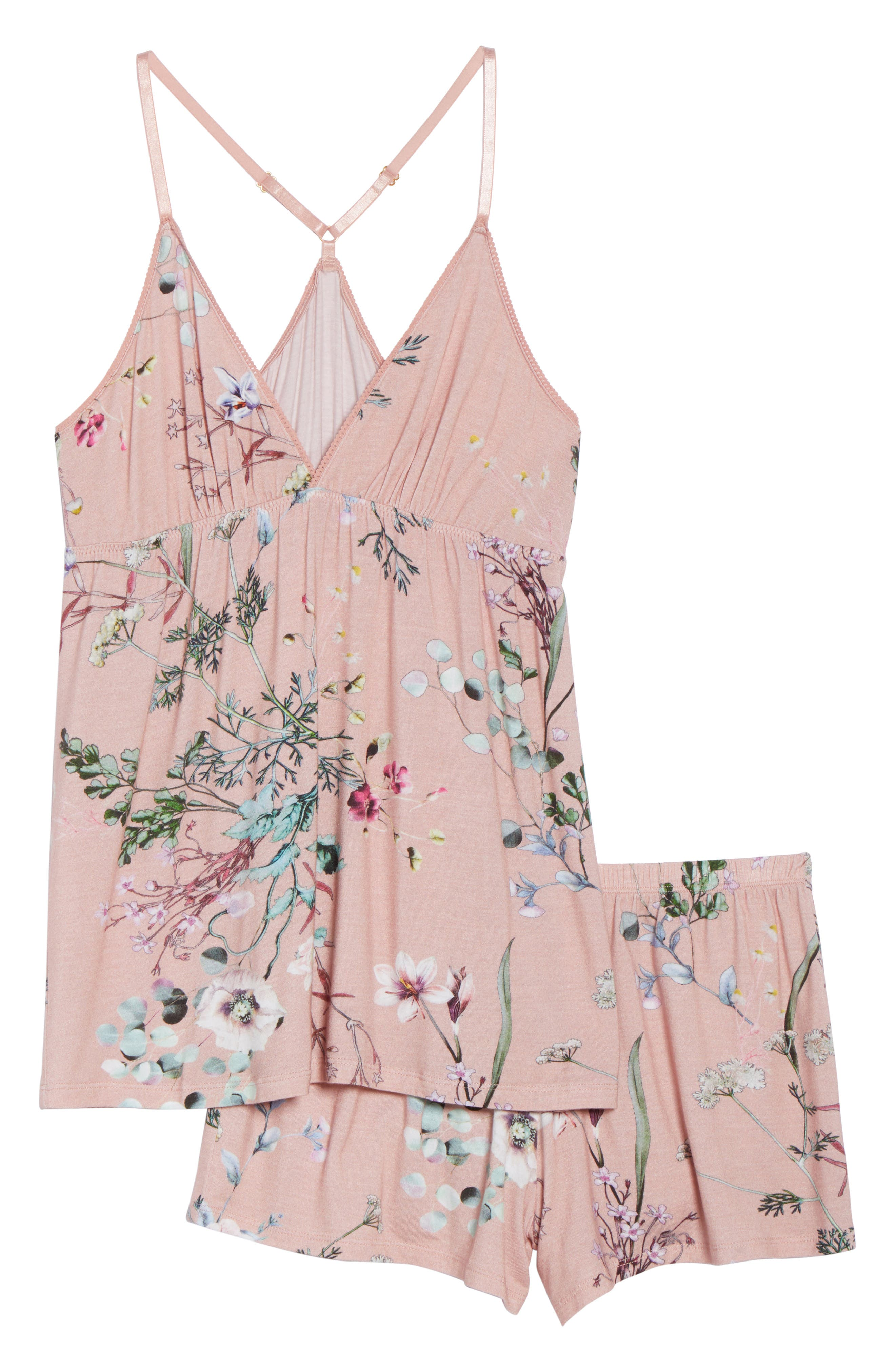 Floral Print Camisole Pajama Set,                             Alternate thumbnail 6, color,                             953