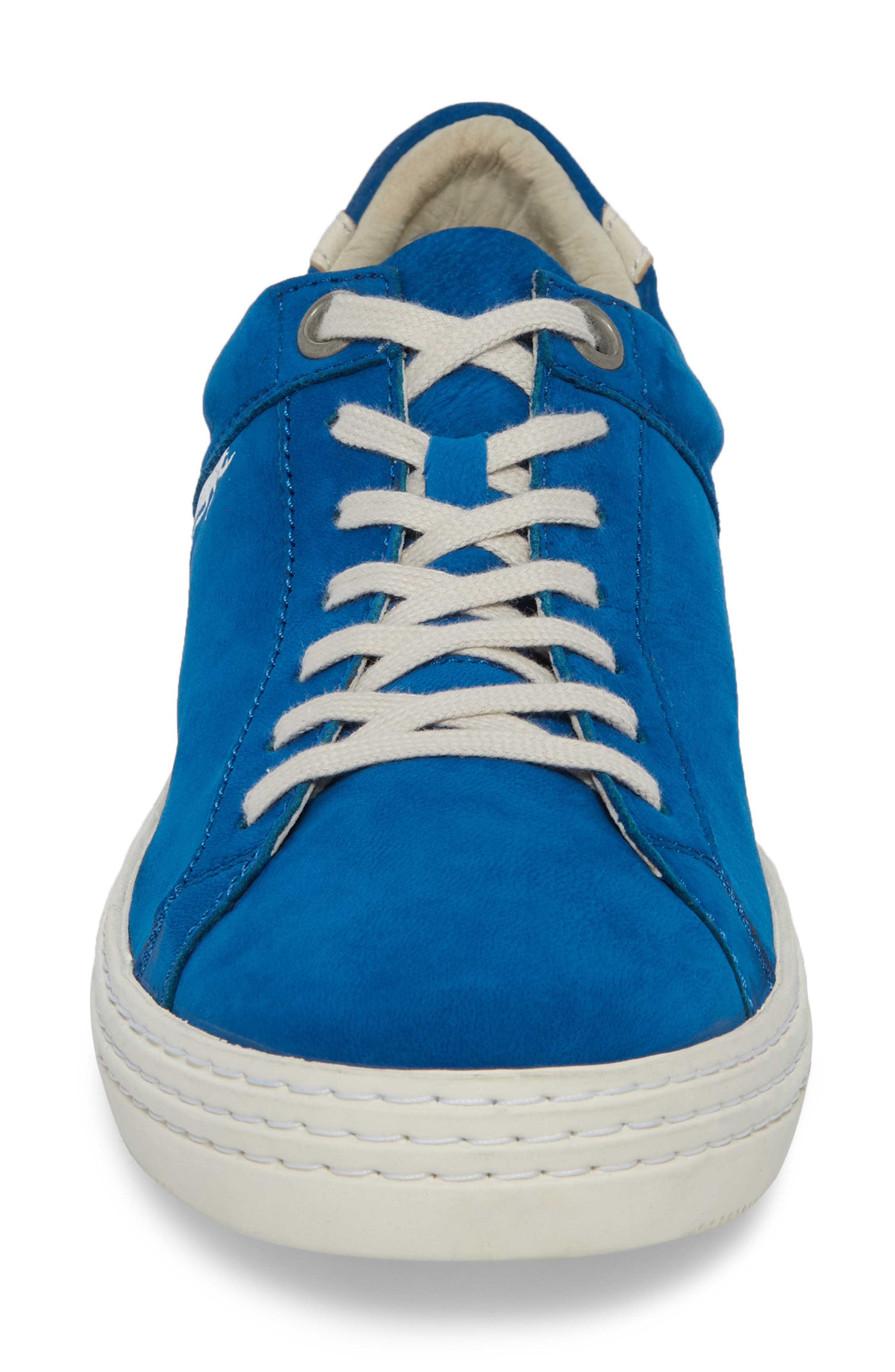 Sene Low Top Sneaker,                             Alternate thumbnail 4, color,                             ELECTRIC BLUE LEATHER
