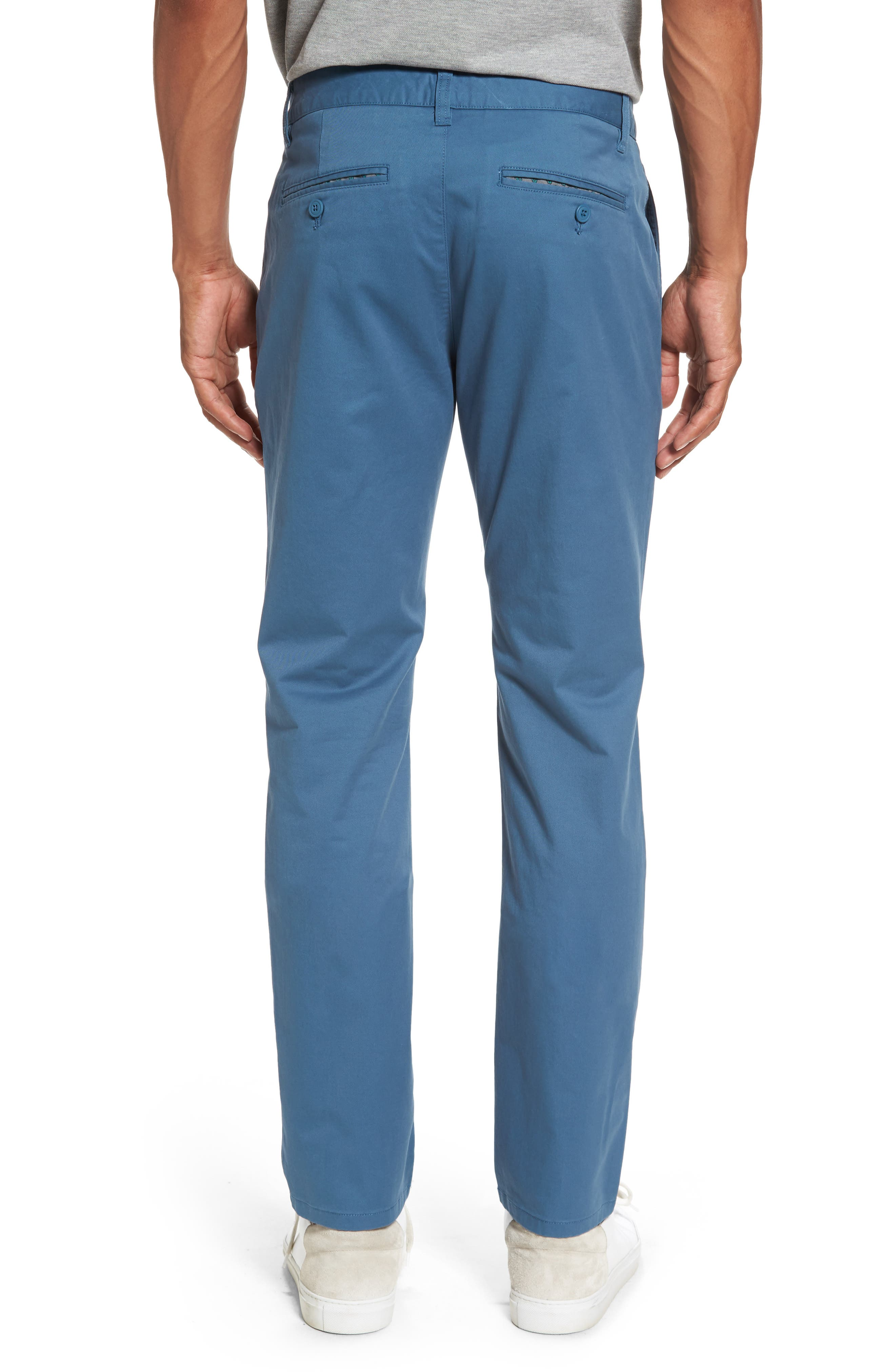 Tailored Fit Washed Stretch Cotton Chinos,                             Alternate thumbnail 48, color,