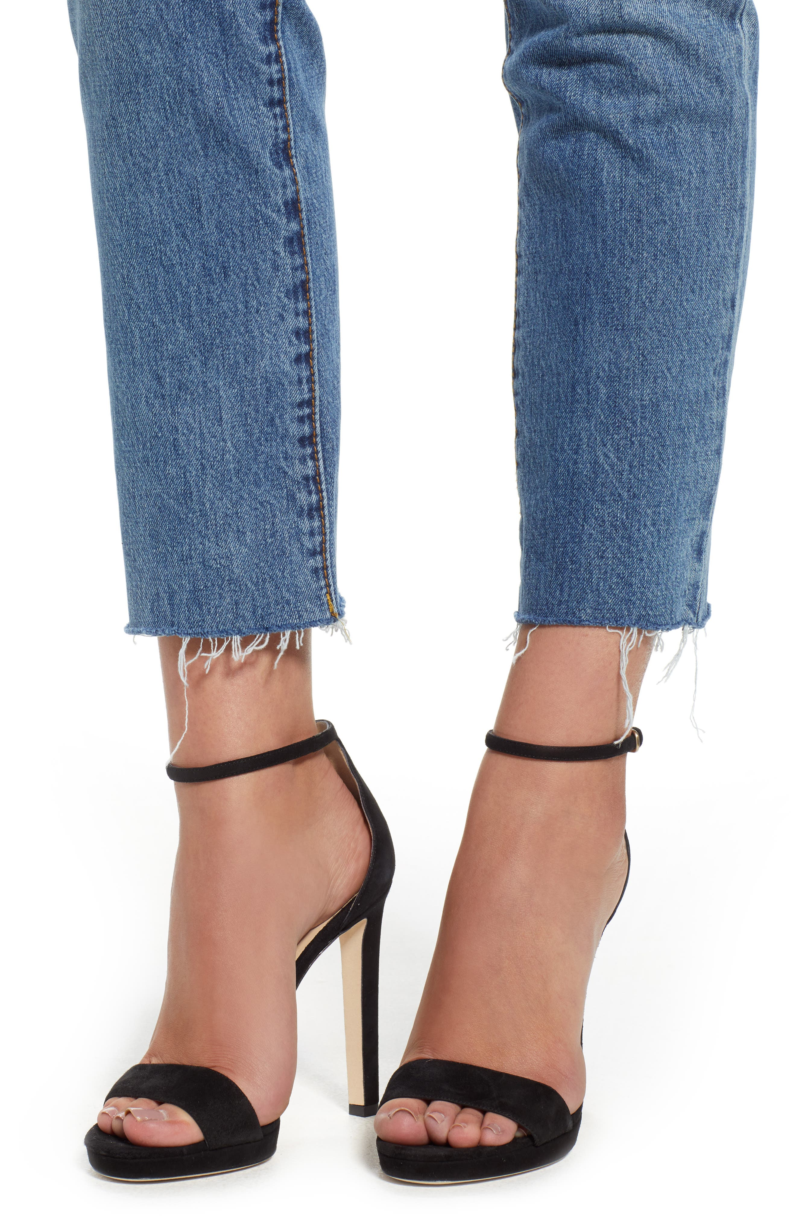 The Madison Straight Leg Crop Jeans,                             Alternate thumbnail 4, color,                             420