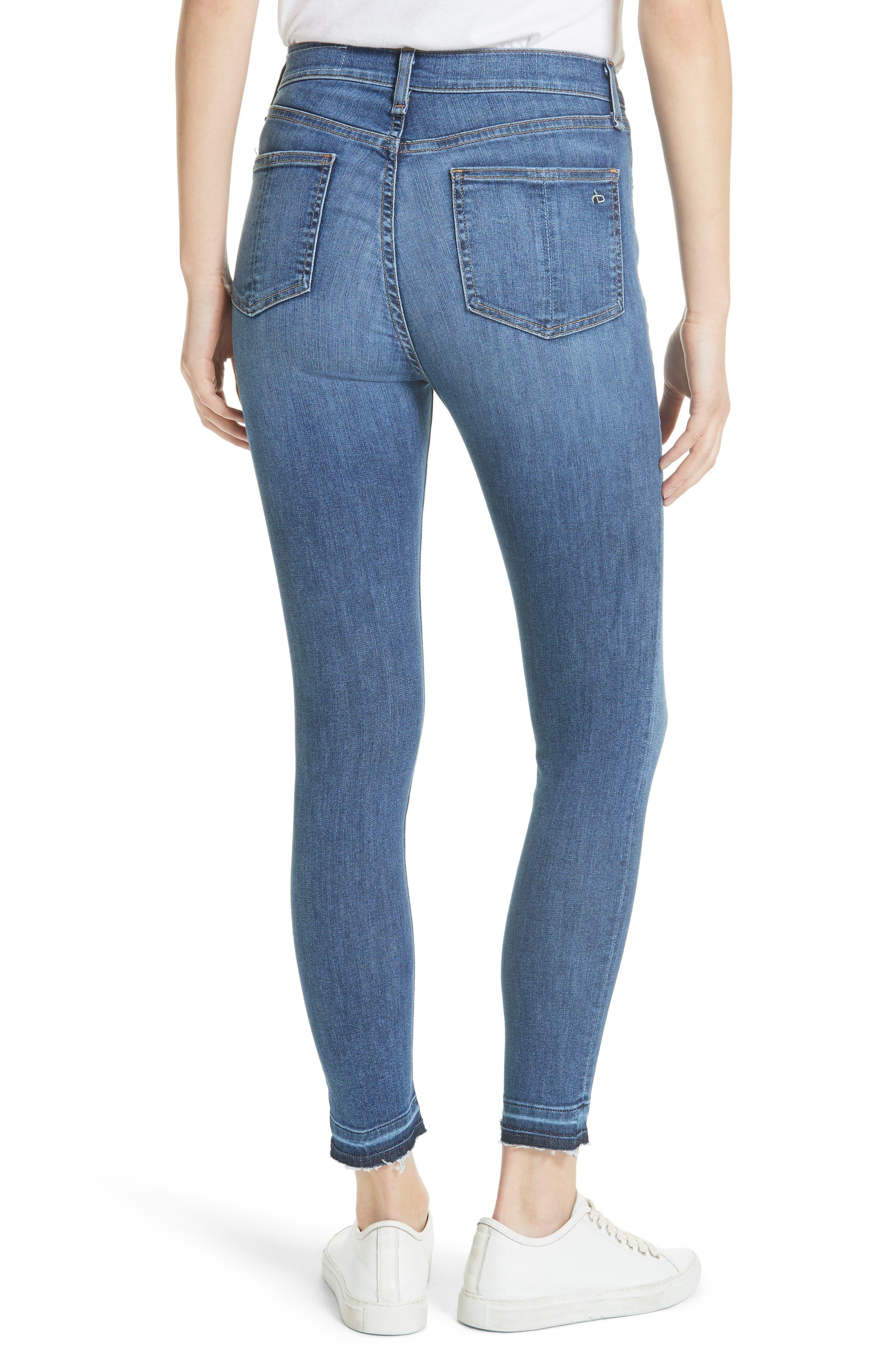 High Waist Ankle Skinny Jeans,                             Alternate thumbnail 2, color,                             426