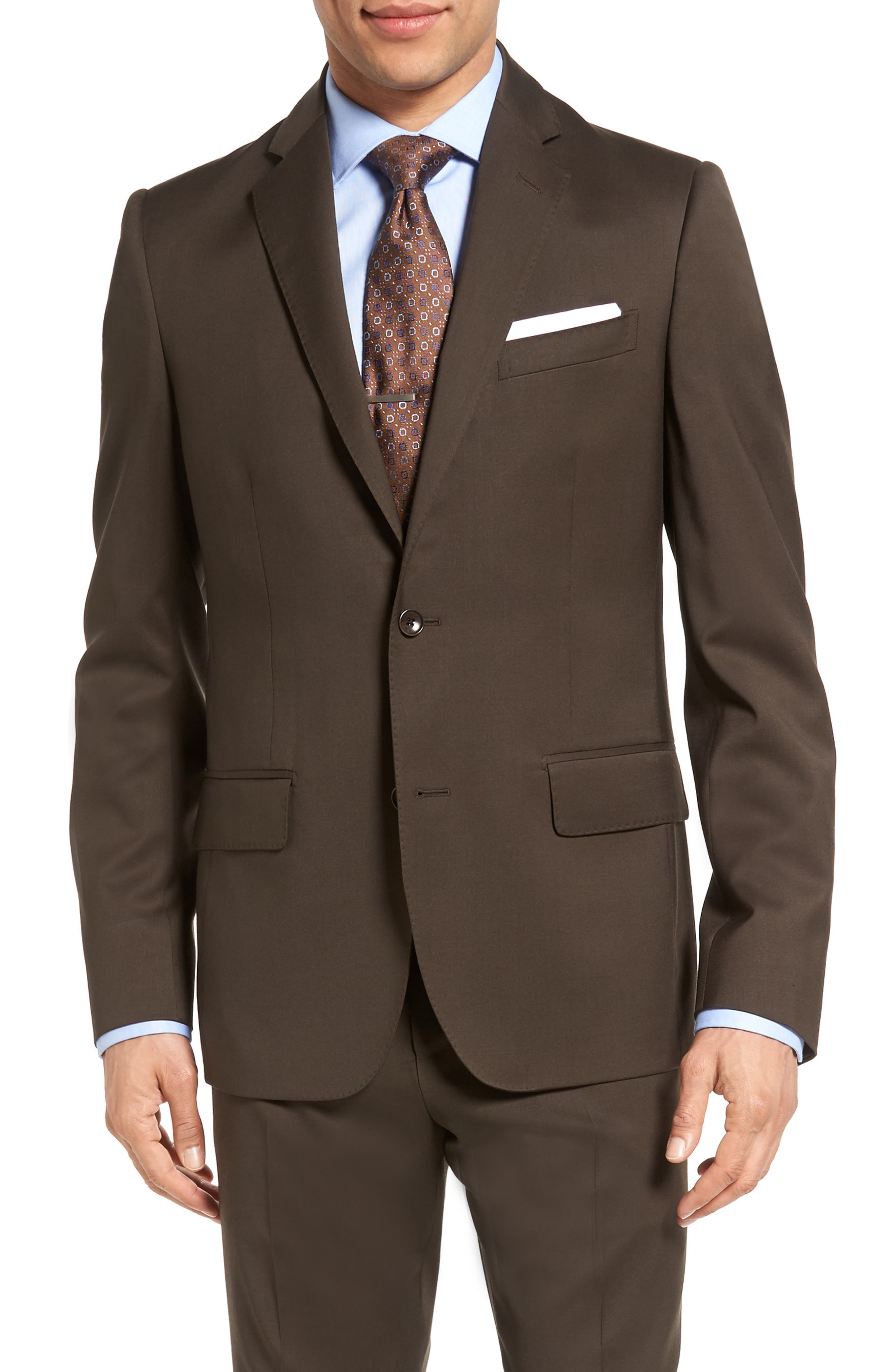 Classic Fit Solid Wool Suit,                             Alternate thumbnail 27, color,