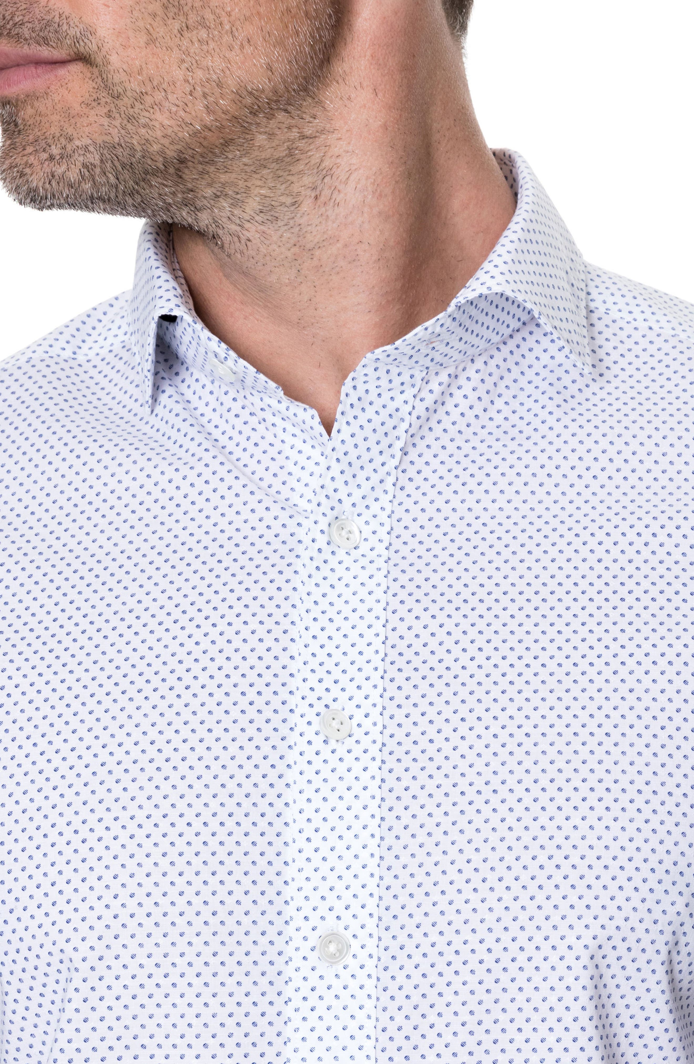 Butler Point Slim Fit Sport Shirt,                             Alternate thumbnail 3, color,                             SNOW