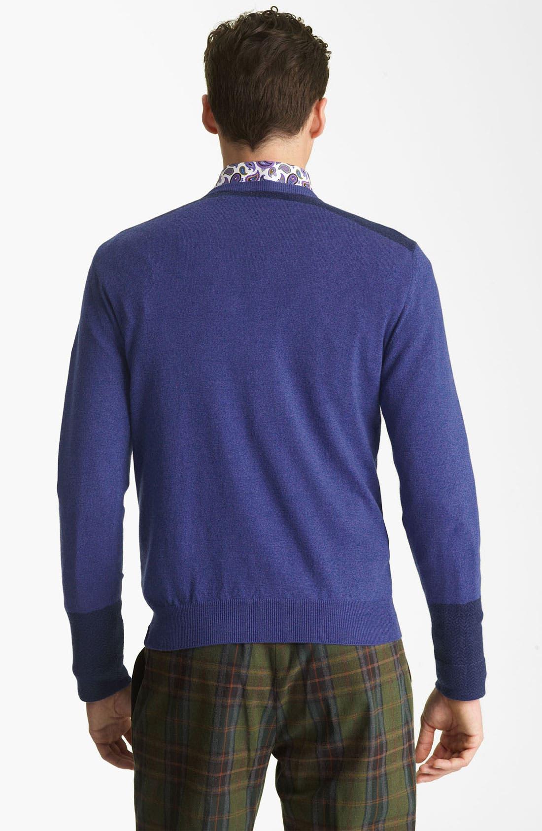 V-Neck Sweater,                             Alternate thumbnail 5, color,                             400