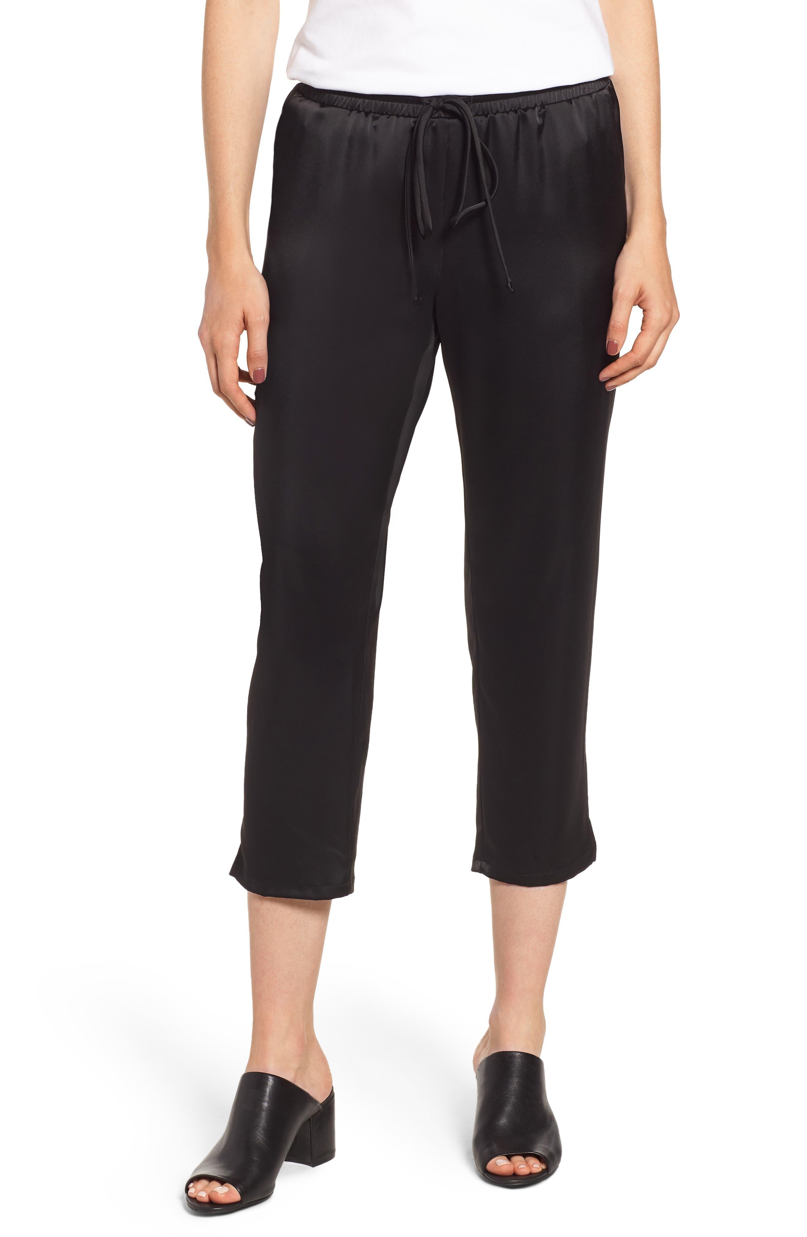 x Glam Squad Simple Jogger Pants,                         Main,                         color, BLACK