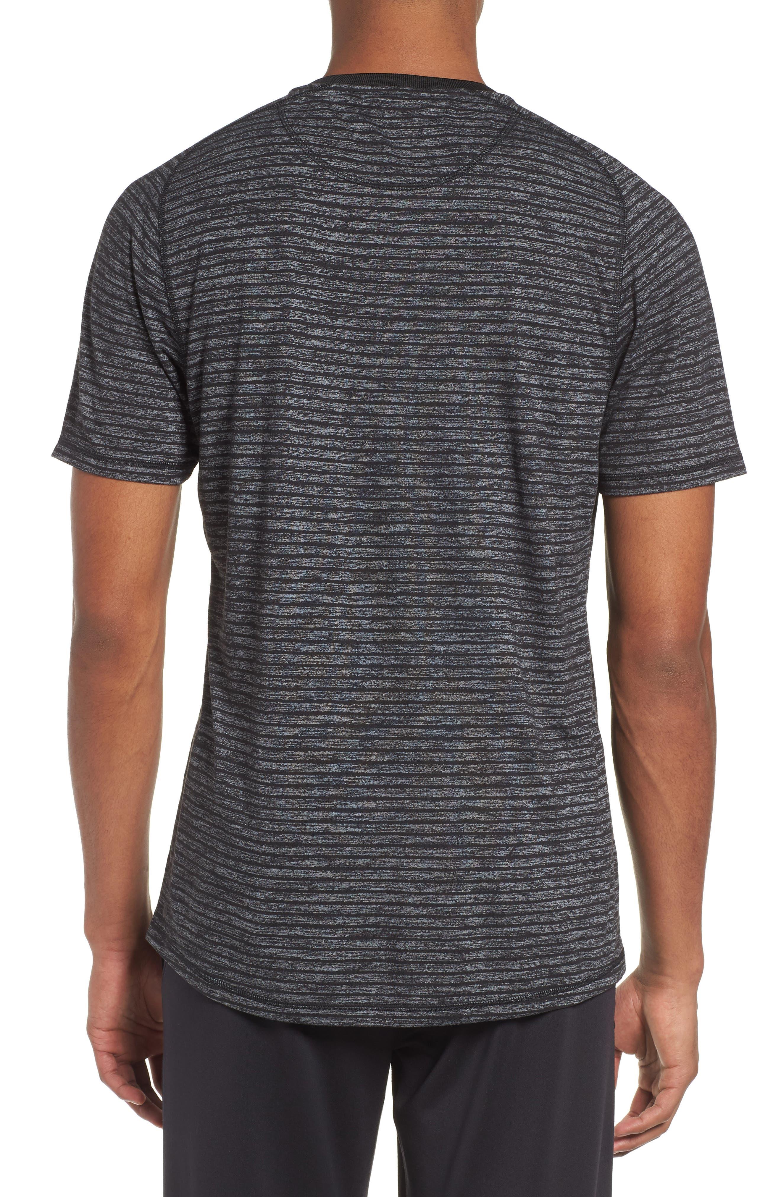 Stripe Crewneck T-Shirt,                             Alternate thumbnail 2, color,                             030