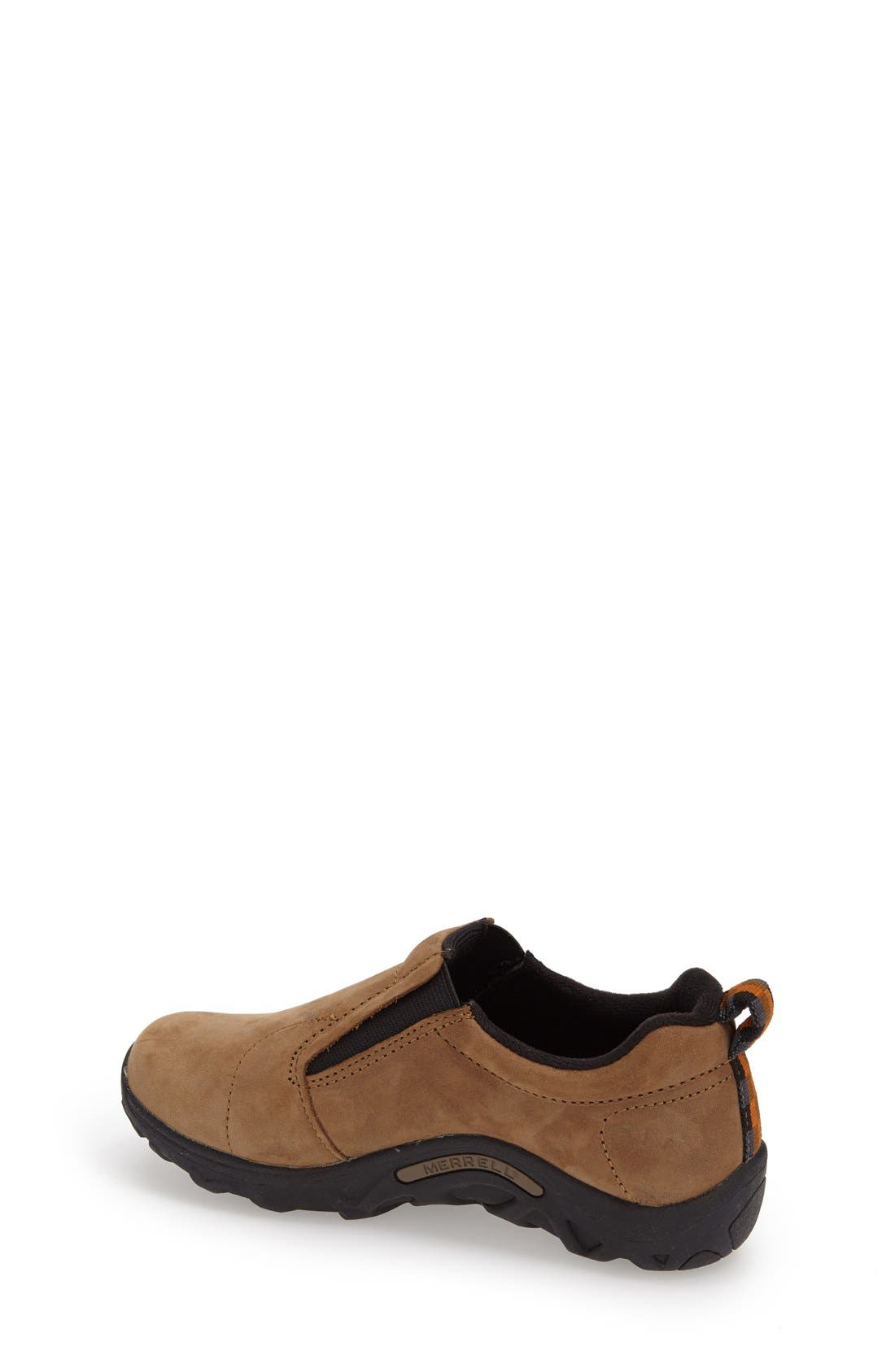'Jungle Moc' Nubuck Slip-On,                             Alternate thumbnail 3, color,                             BROWN