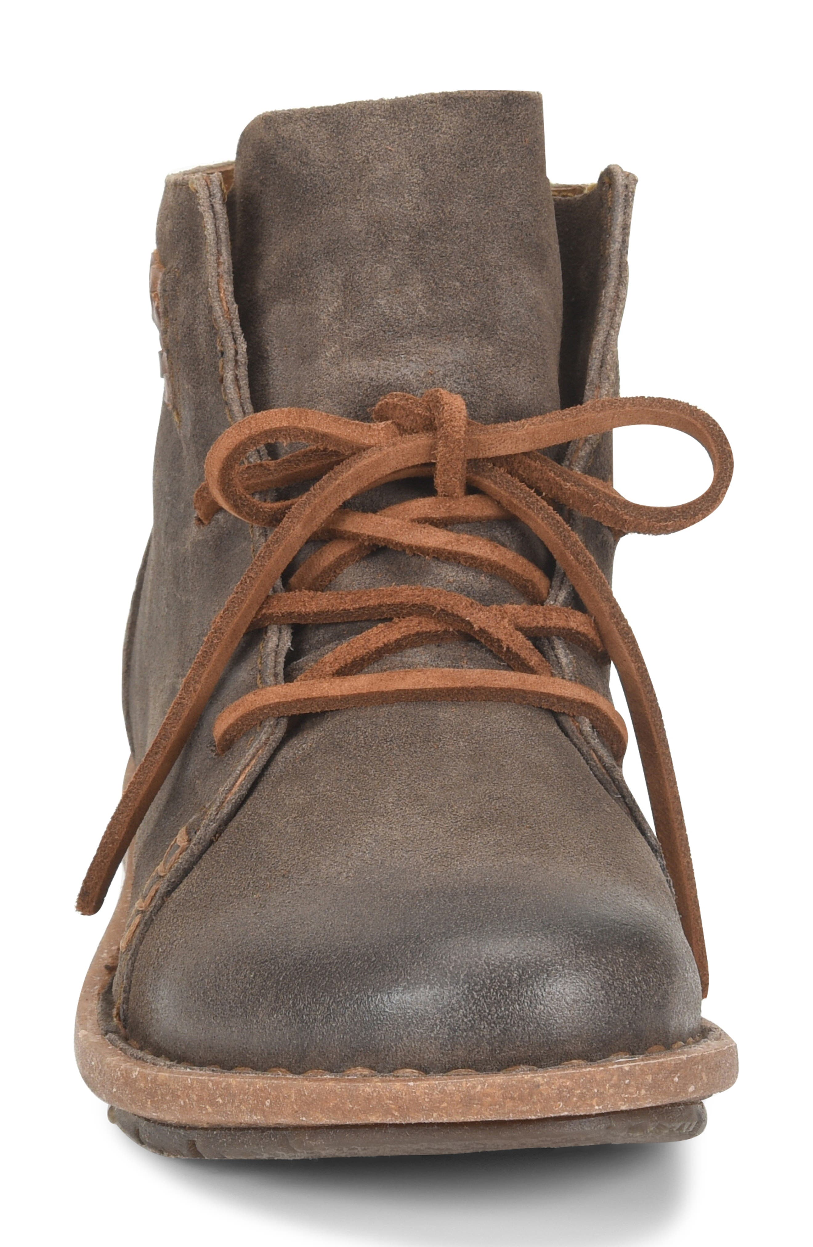 Temple Bootie,                             Alternate thumbnail 4, color,                             TAUPE DISTRESSED LEATHER