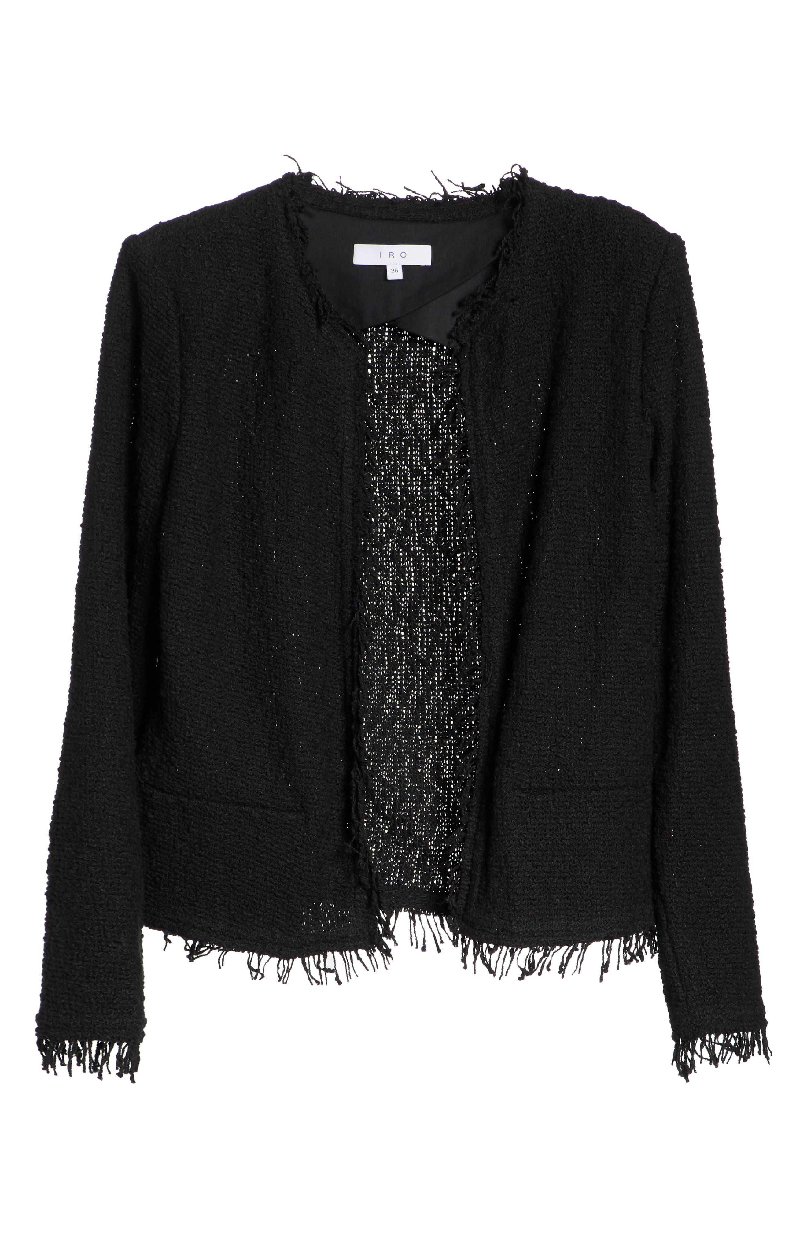 Shavani Tweed Jacket,                             Alternate thumbnail 5, color,                             001