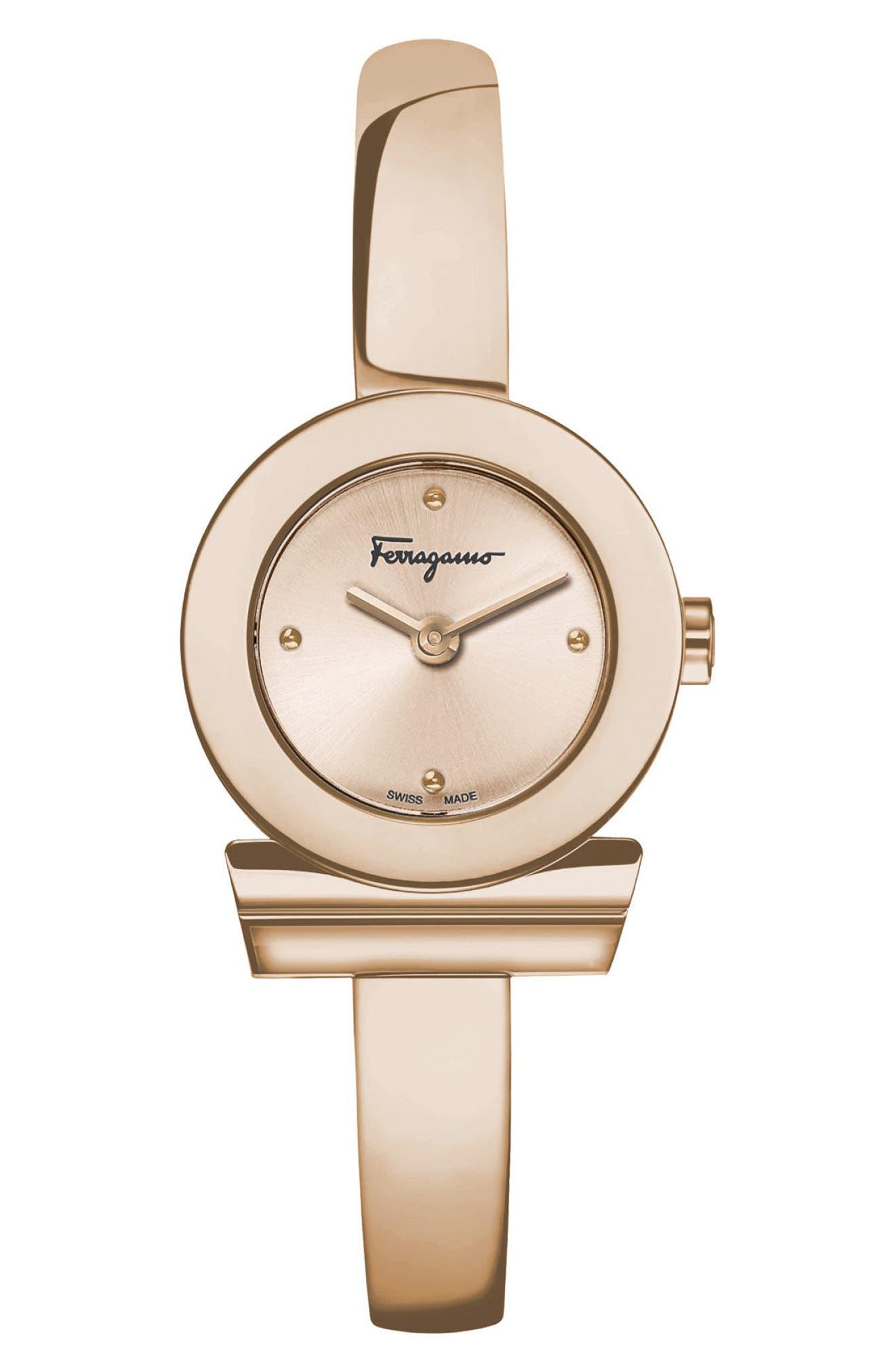 Gancino Bracelet Watch, 22.5mm,                             Main thumbnail 1, color,                             ROSE GOLD