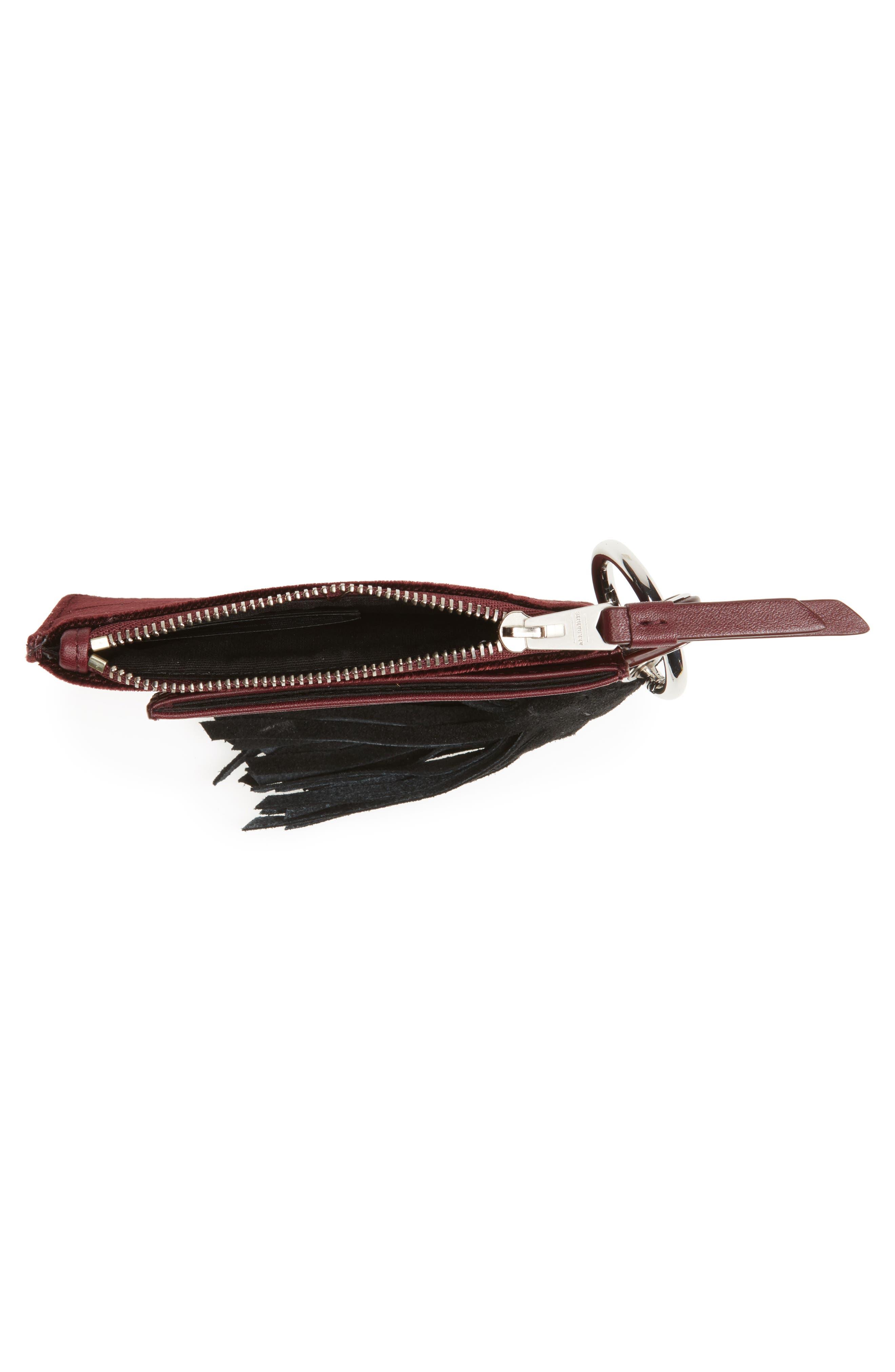 Dive Key Fob Leather & Suede Zip Pouch & Card Case,                             Alternate thumbnail 2, color,                             930