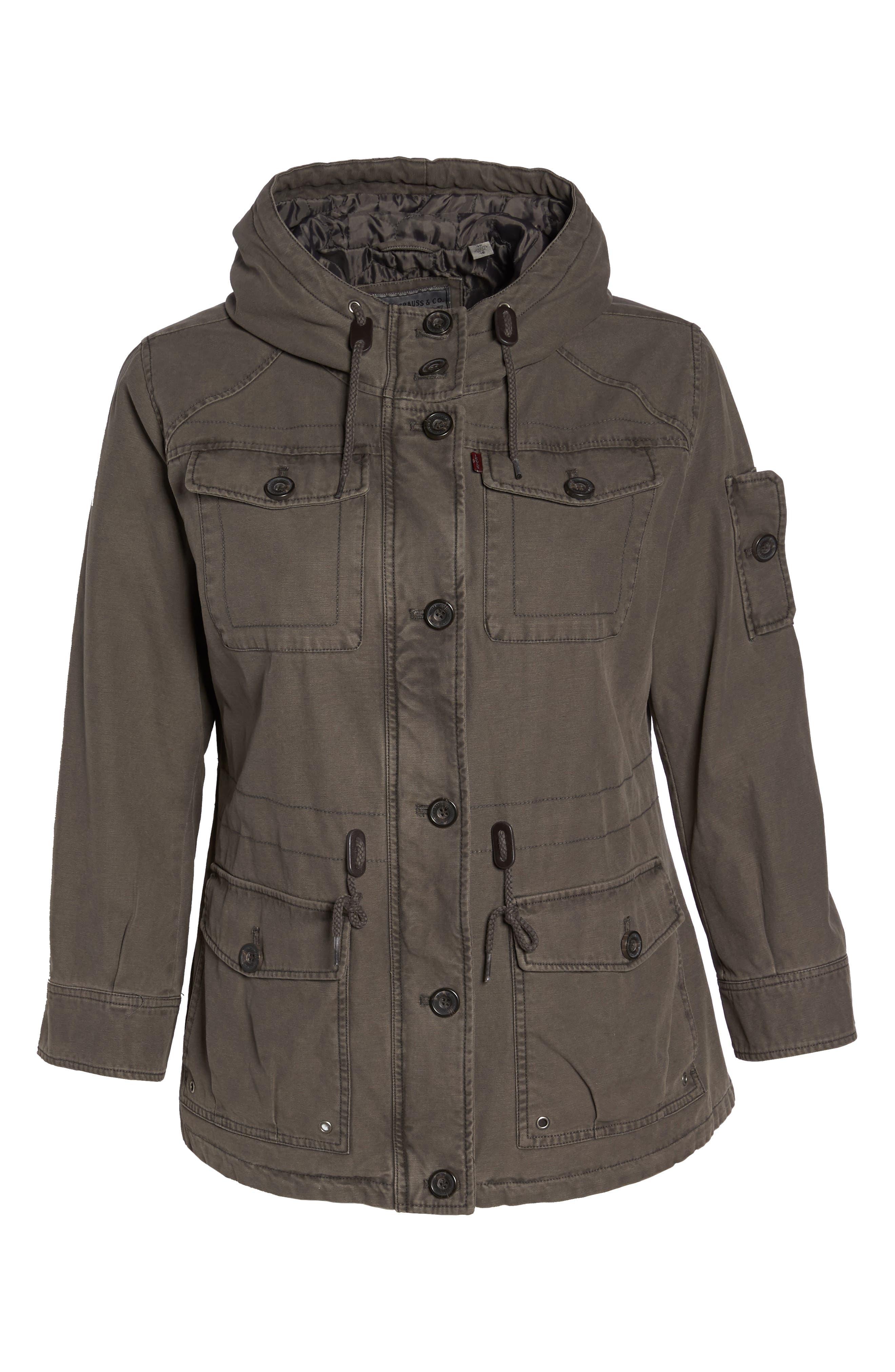 Hooded Cotton Utility Jacket,                             Alternate thumbnail 14, color,