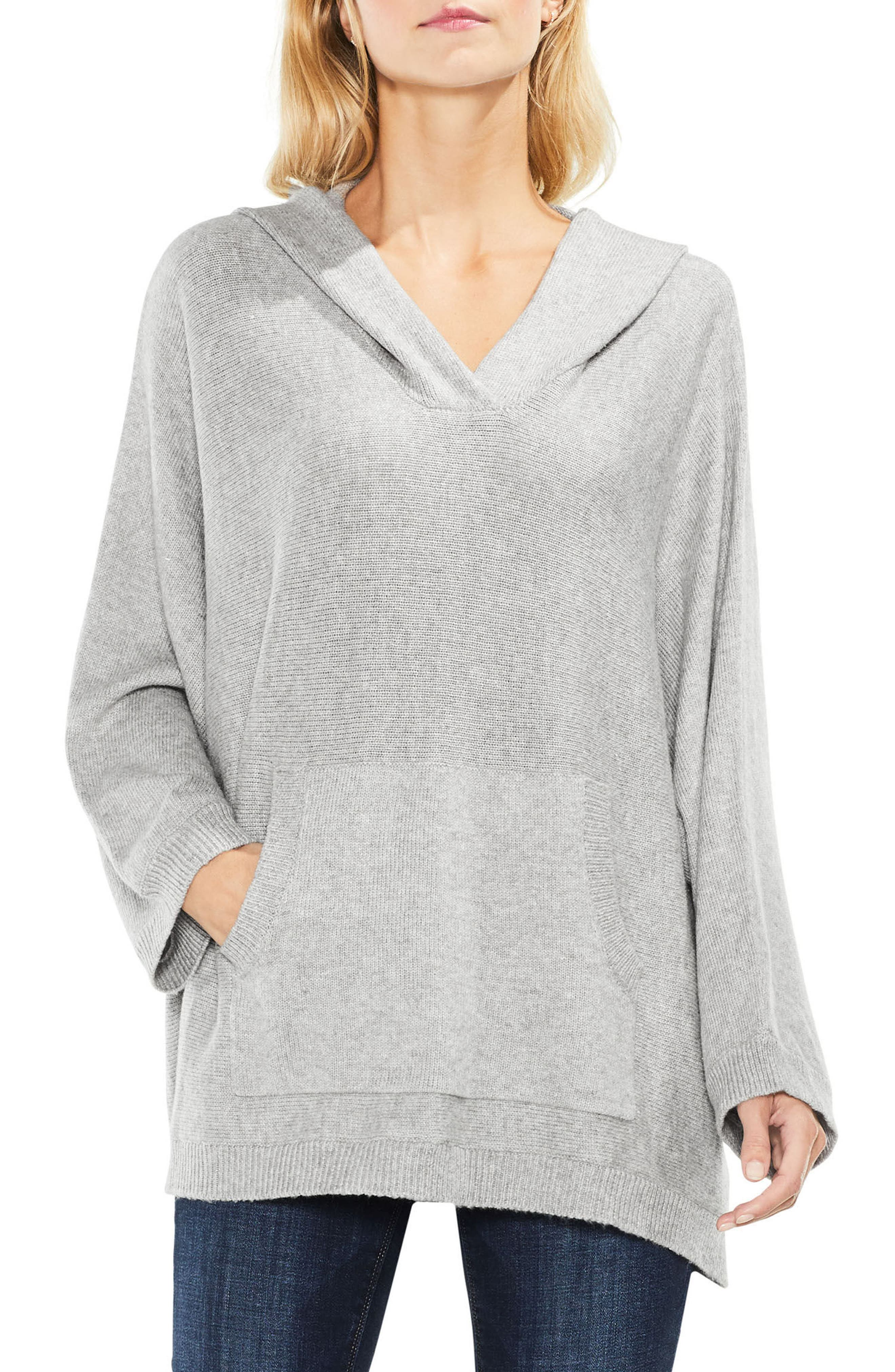 Dolman Sleeve Relaxed Hooded Sweater,                             Main thumbnail 1, color,