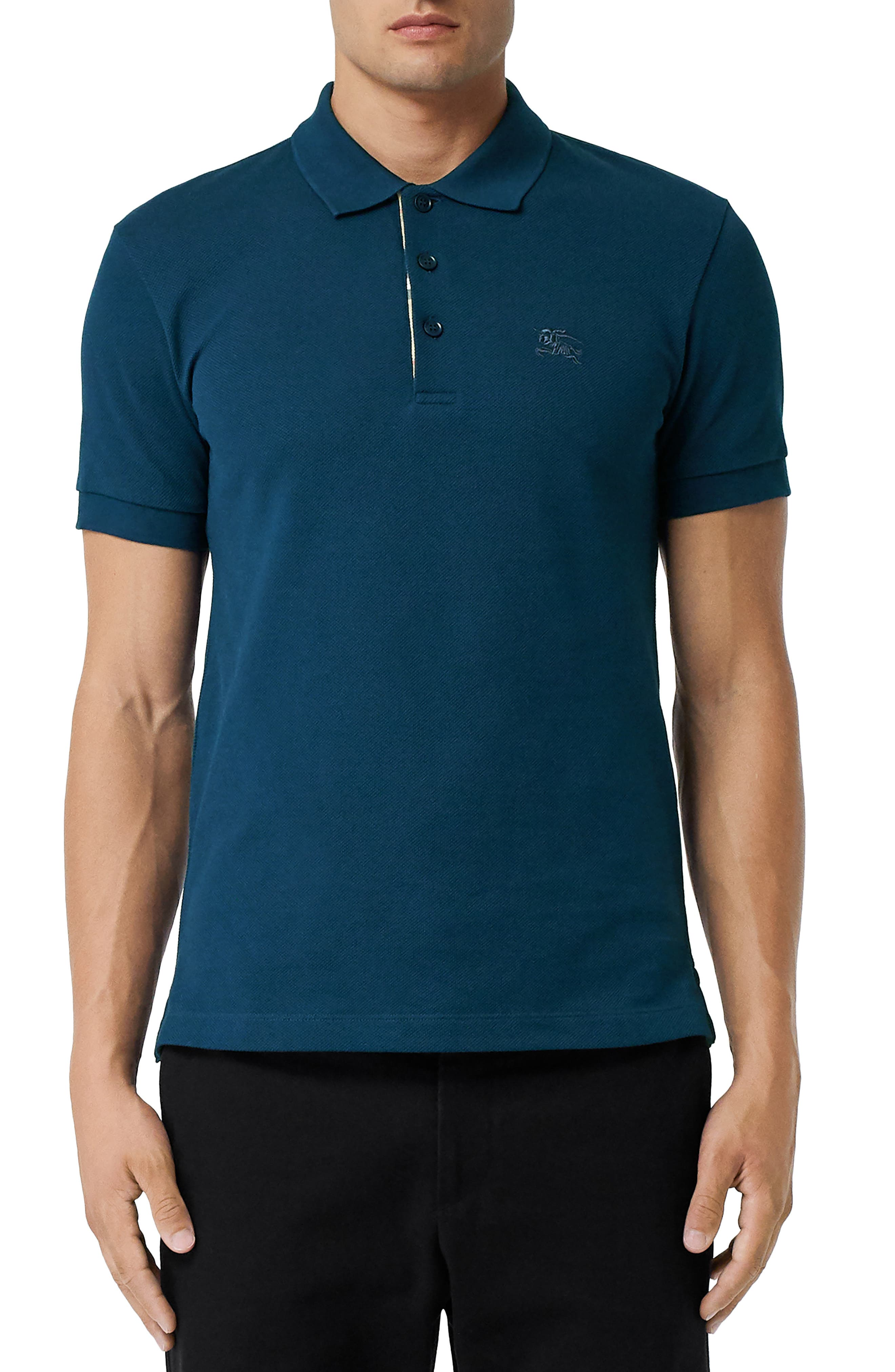 Hartford Piqué Polo,                         Main,                         color, DEEP TEAL BLUE