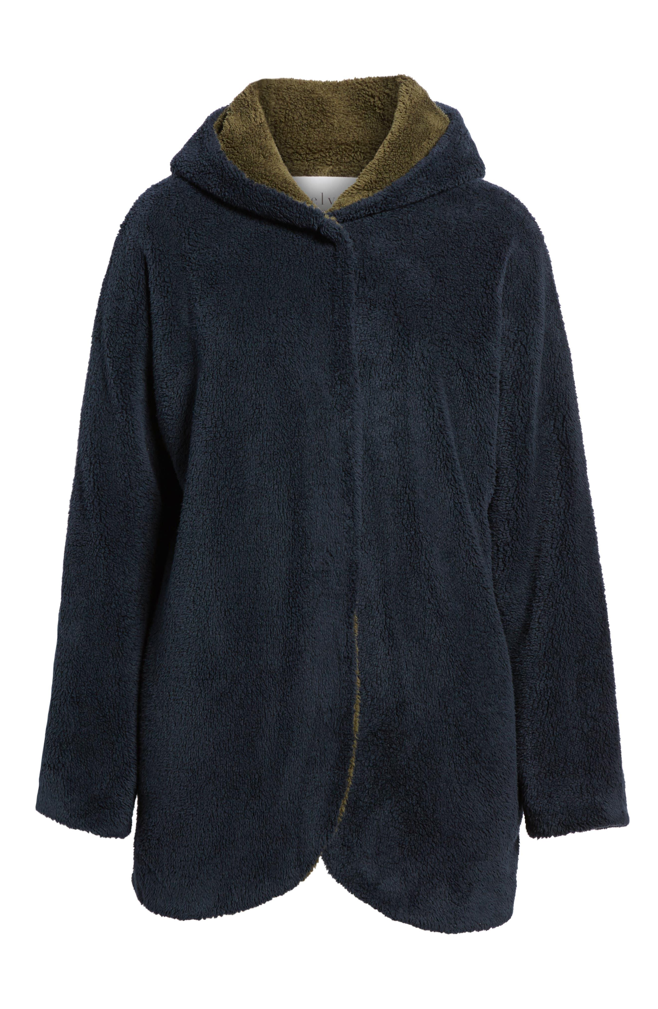 Hooded Reversible Coat,                             Alternate thumbnail 5, color,