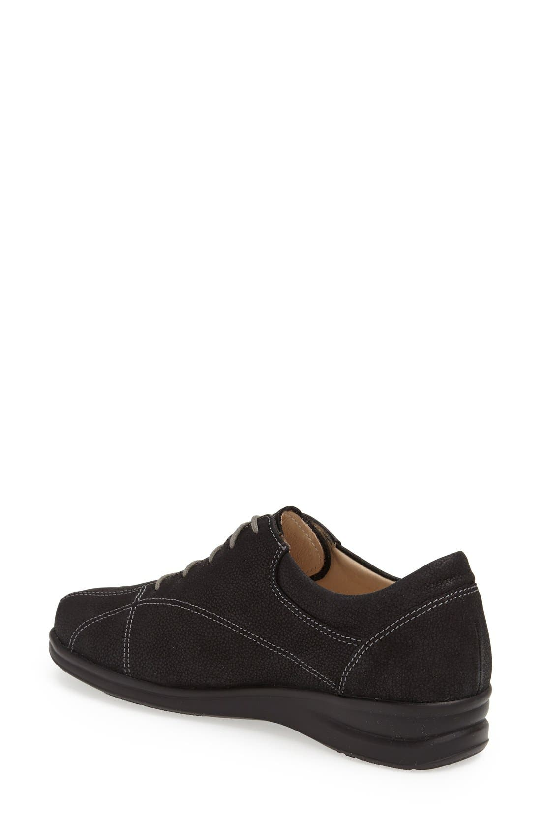 'Ariano' Leather Sneaker,                             Alternate thumbnail 2, color,                             BLACK