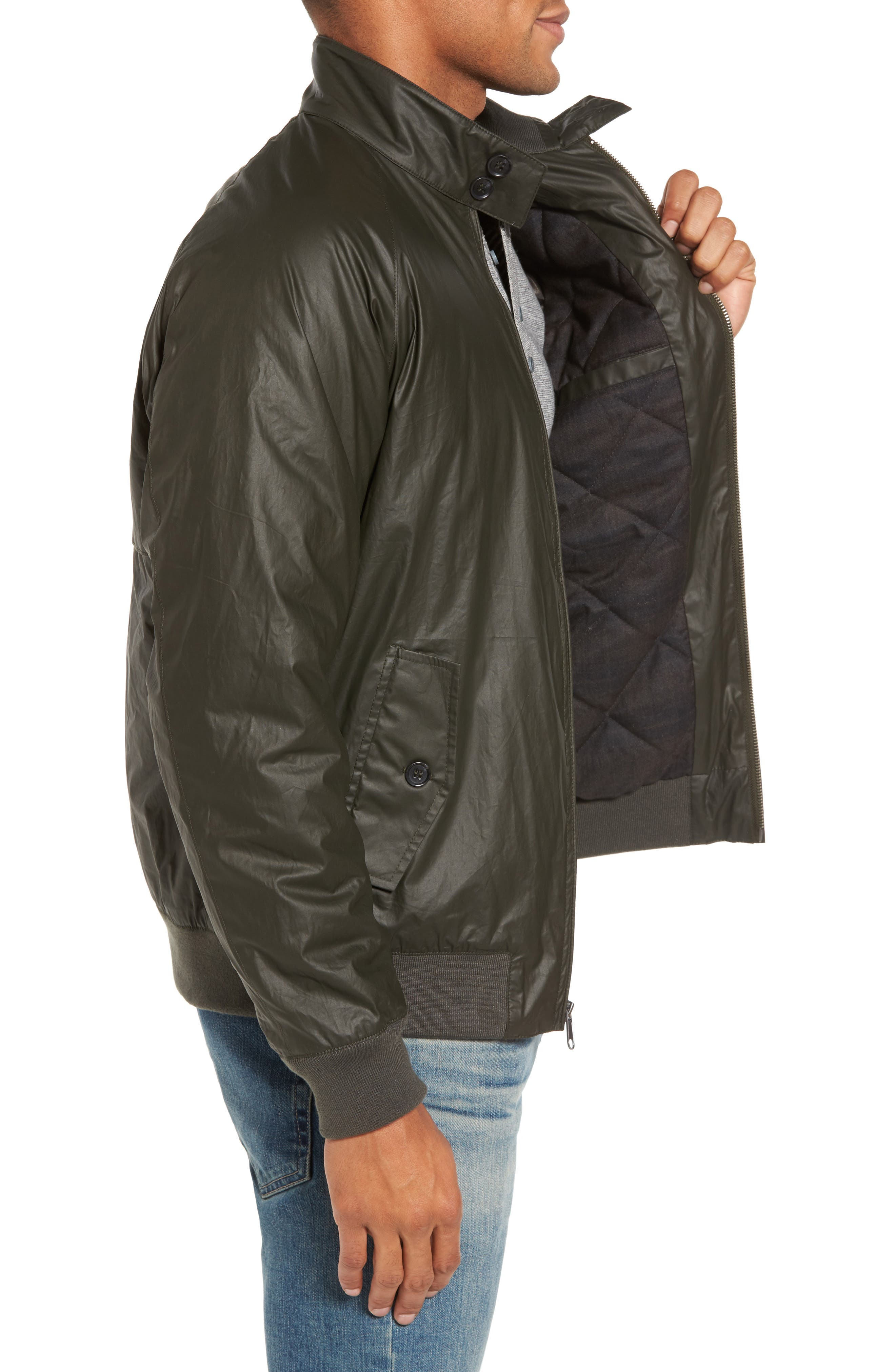 Insulated Harrington Jacket,                             Alternate thumbnail 6, color,