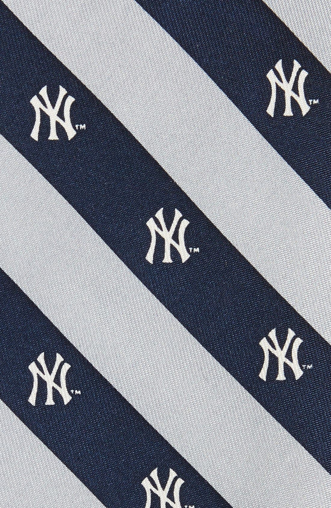 New York Yankees - MLB Print Silk Tie,                             Alternate thumbnail 2, color,                             414